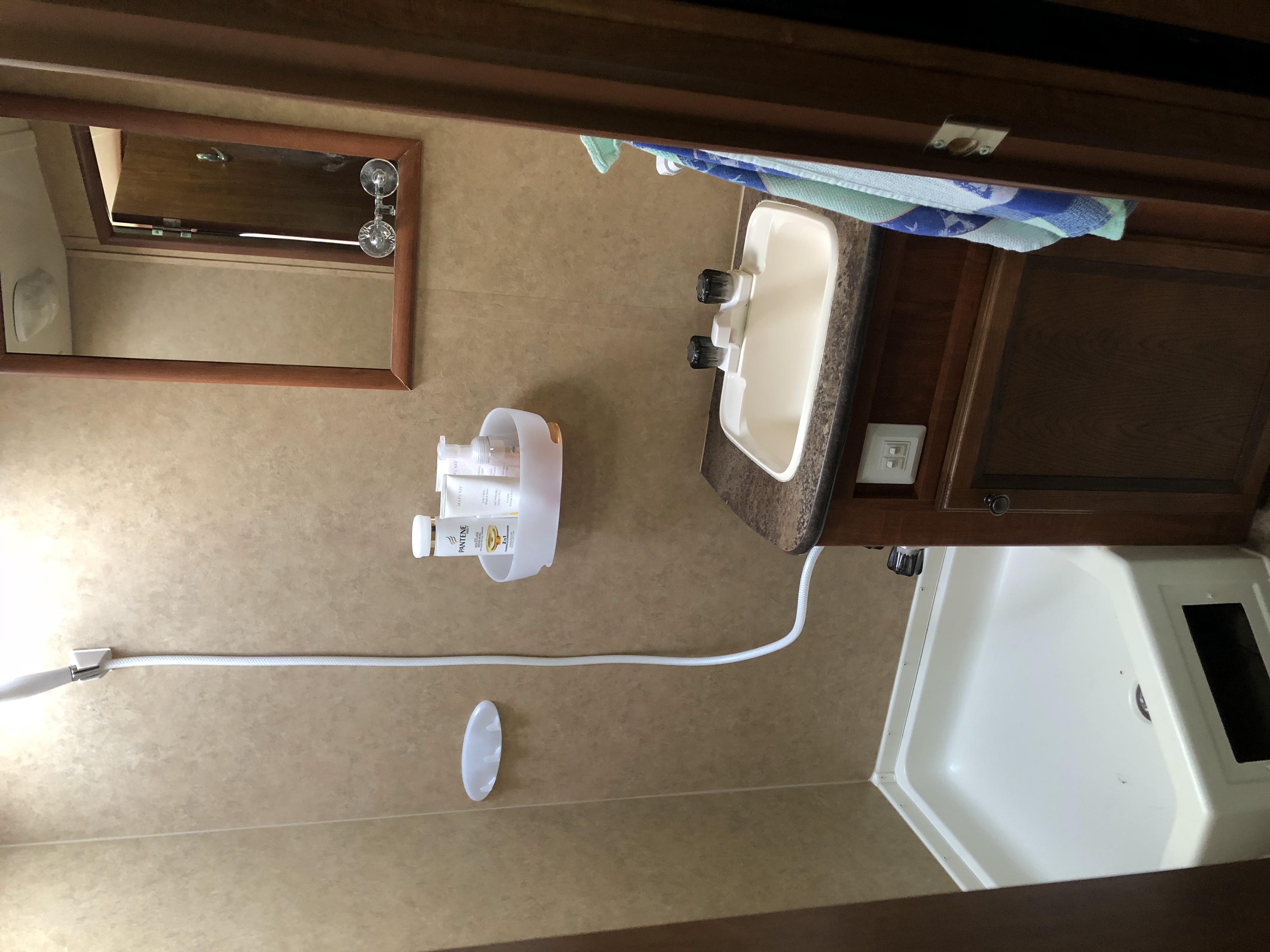 Bathroom sink.. Jayco Jay Feather Ultra Lite 2013