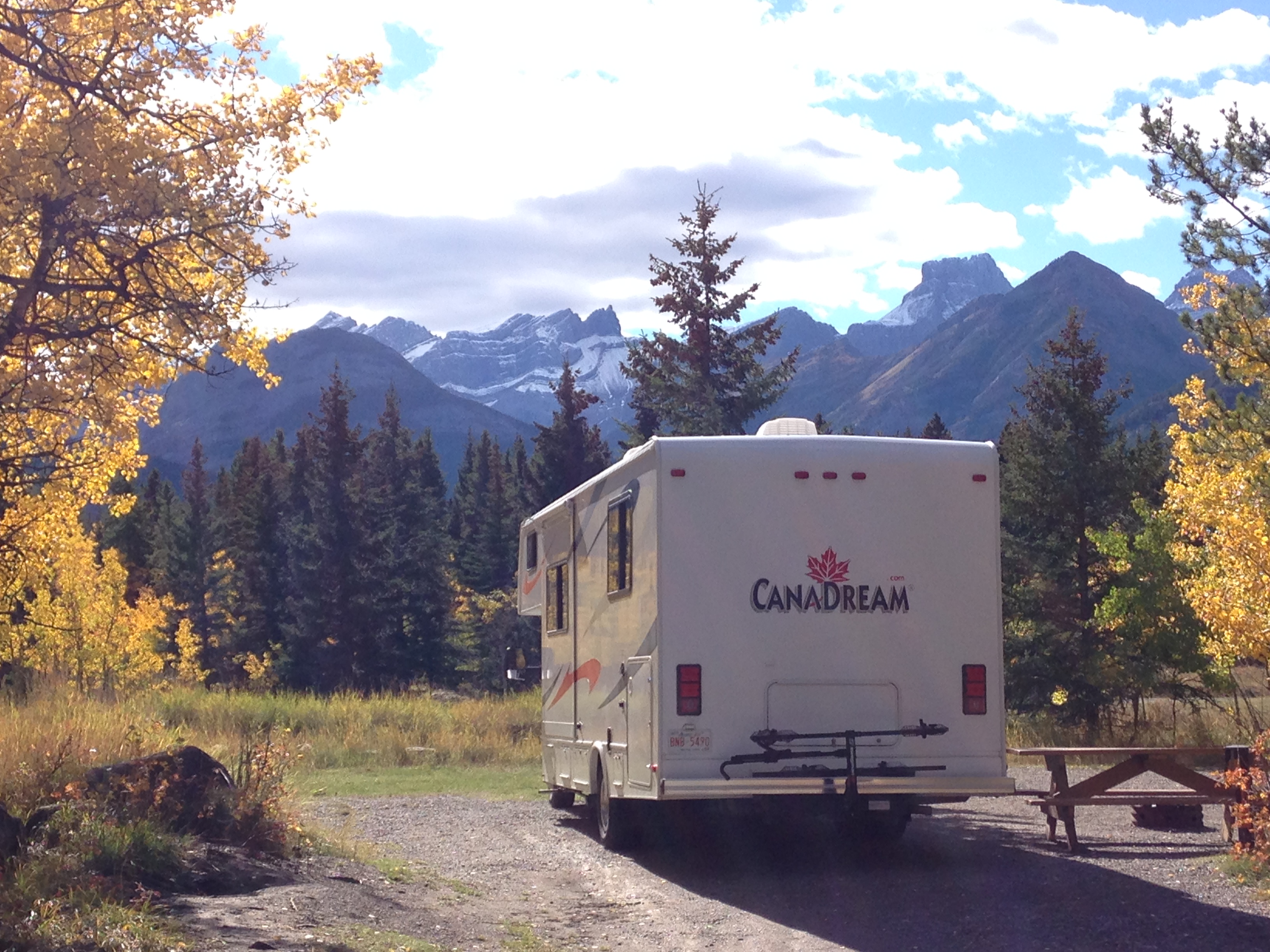 Mt. Kidd RV Park in September. A favourite spot for us.. Forest River Sunseeker 2012