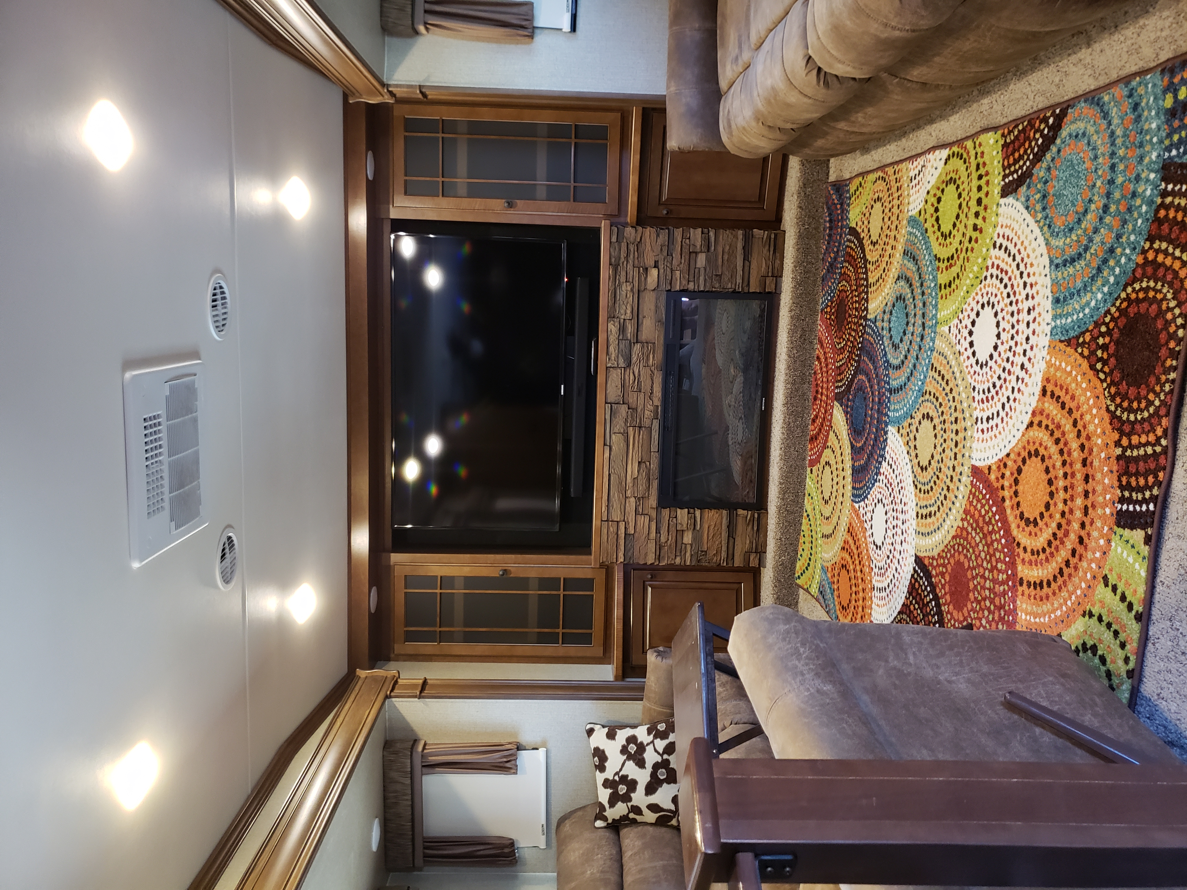 """Large Living area - 60"""" TV for watching Foot Ball!  . Heartland Bighorn 2015"""