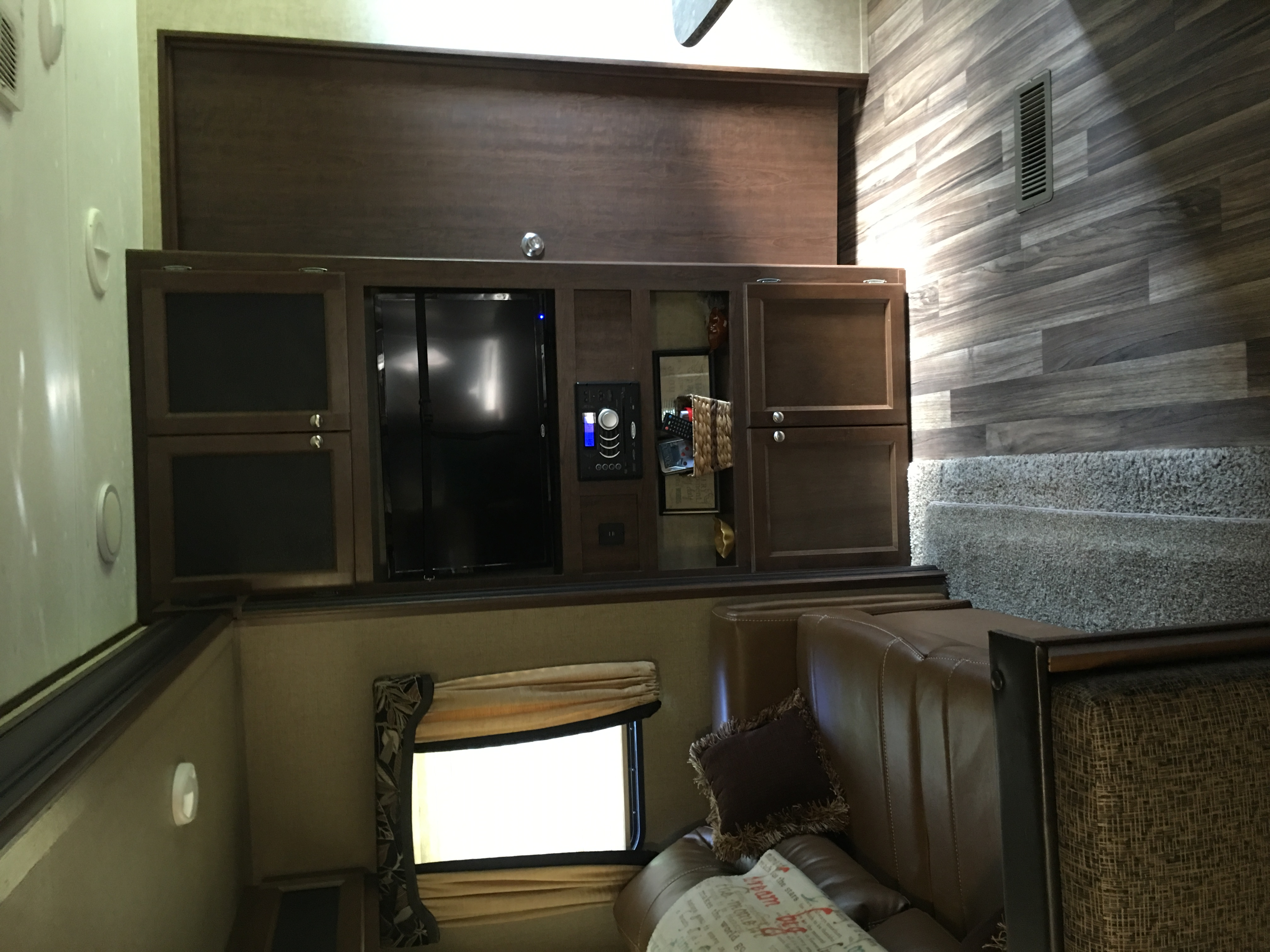 Trim fold full couch sleeper tv dvd and stereo with usb charging ports. Keystone Hideout 2017