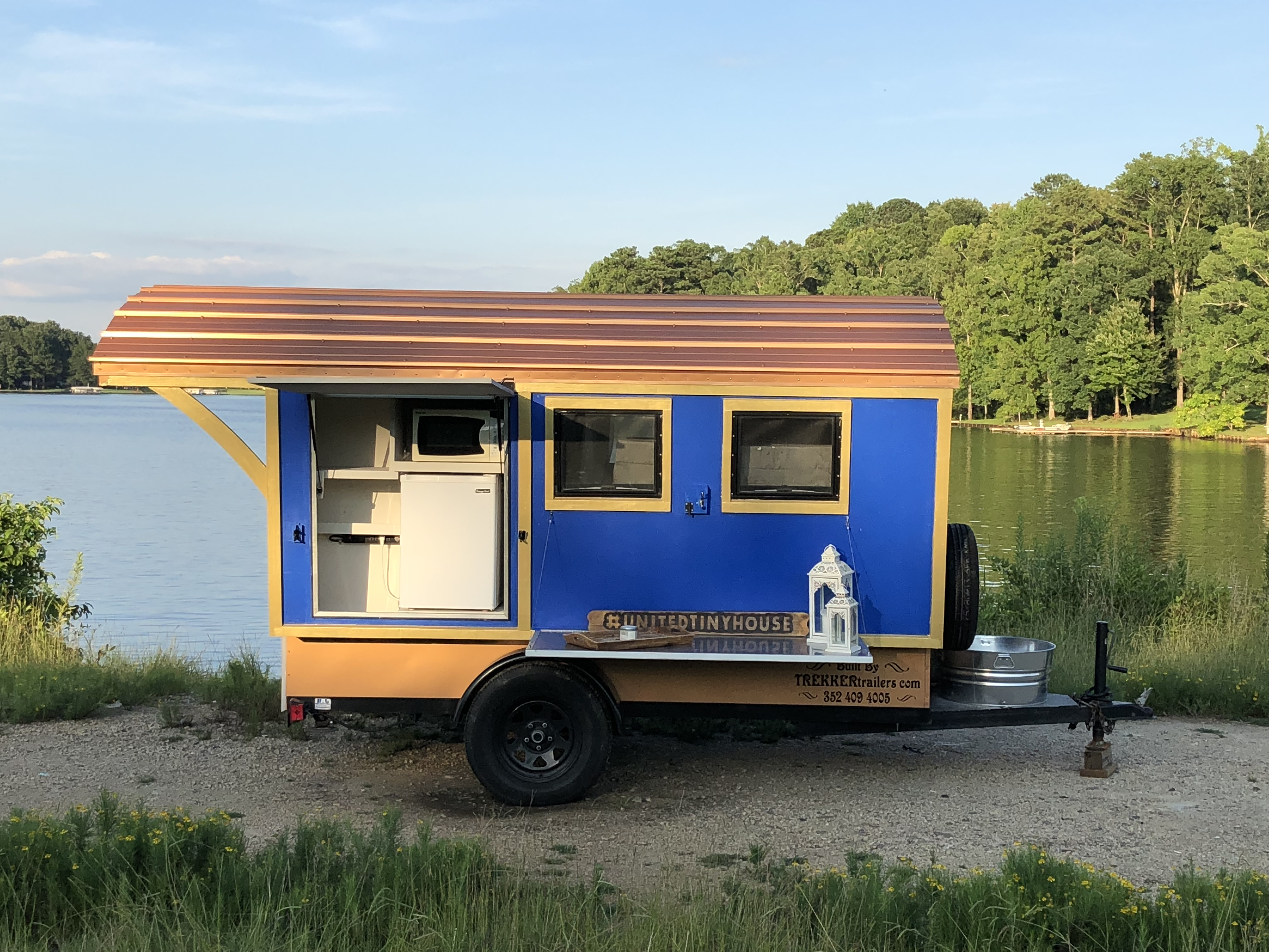 Super light weight and easy to tow; weight approximately 1,500lbs. Trekker Trailers Gypsy Wagon 2016