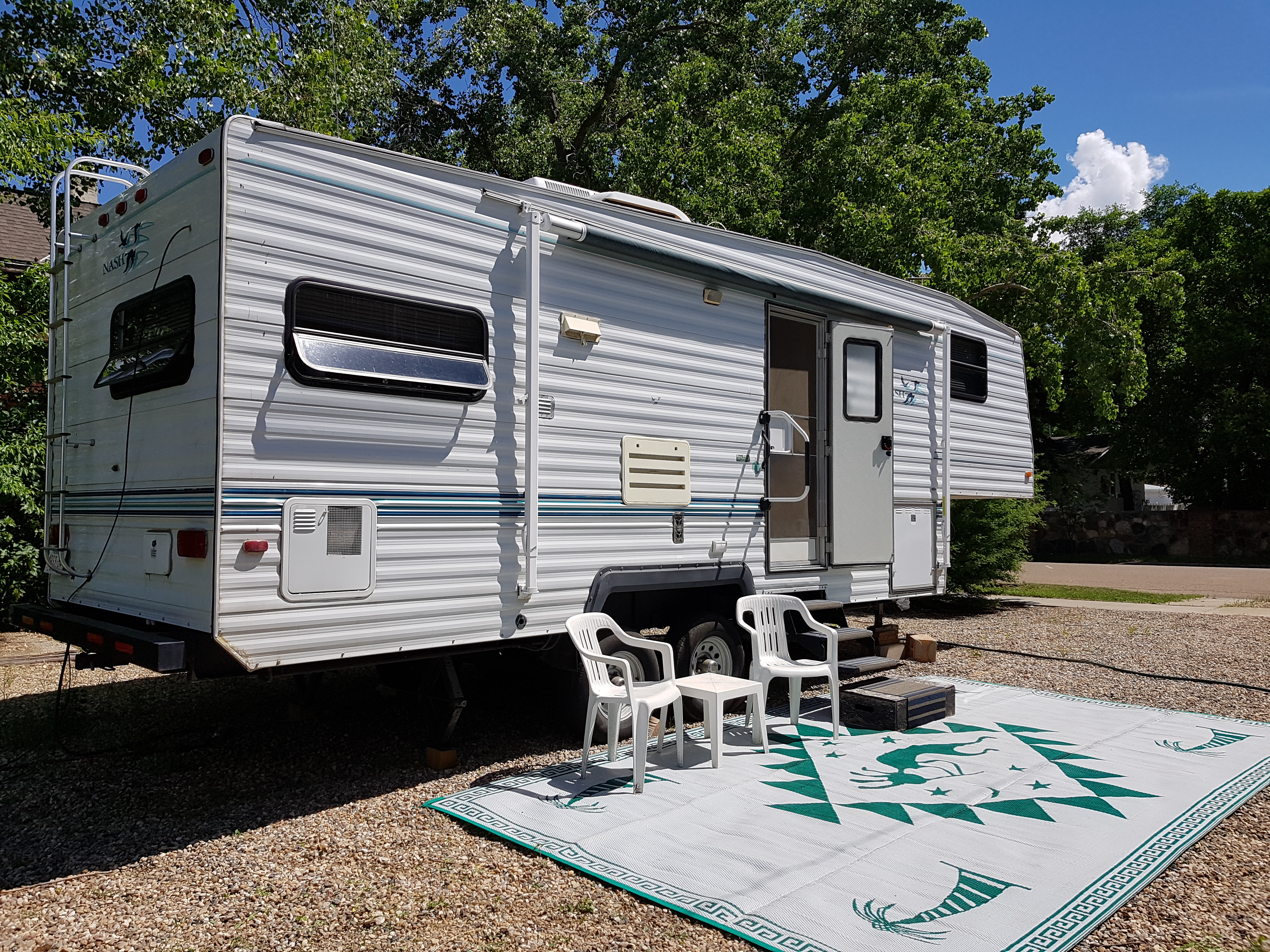 50 foot wide private space on a town lot.. Northwood Mfg Nash 1997