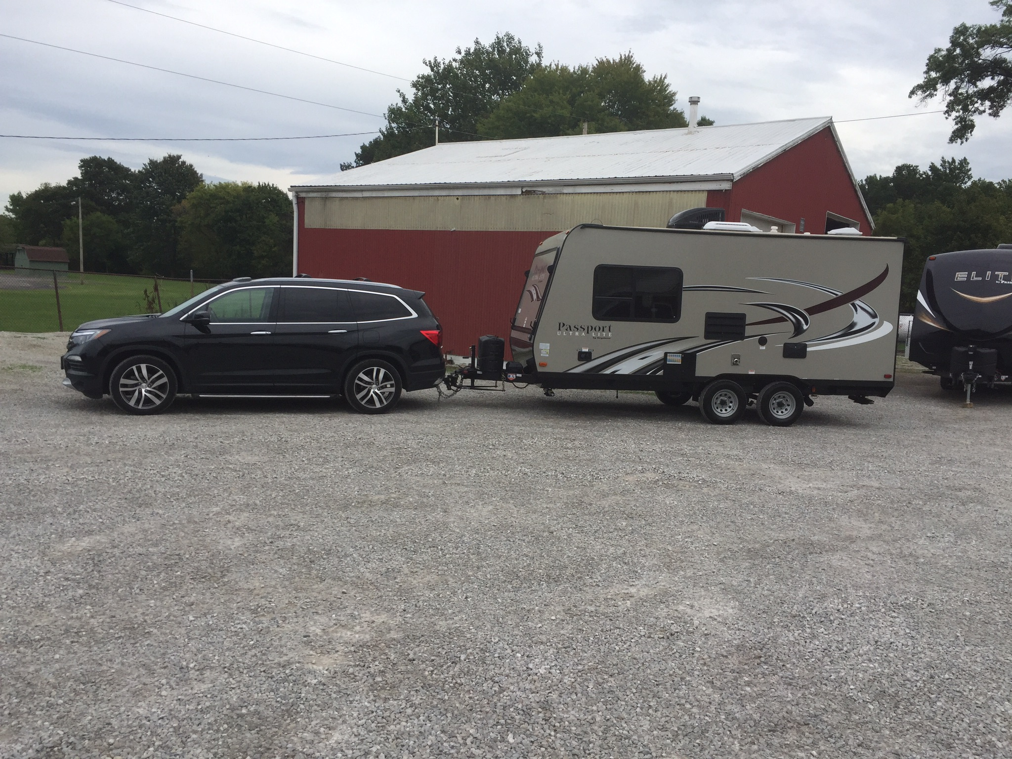 Easy to tow. Although towing experience required. . Keystone Passport 2016