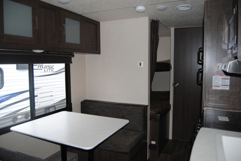 Dinette with bunks in the back. Forest River Cruise Lite 2018