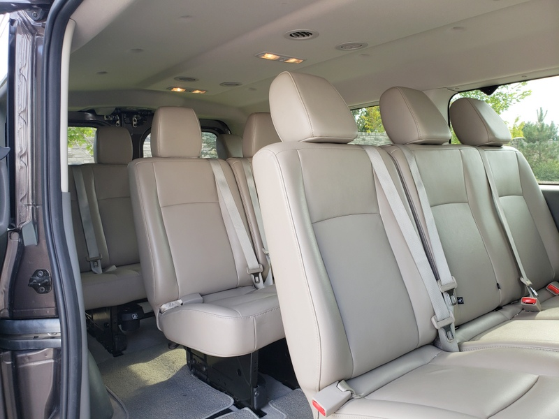 Rear leather seating for 10!. Nissan Passenger NV SL 2016