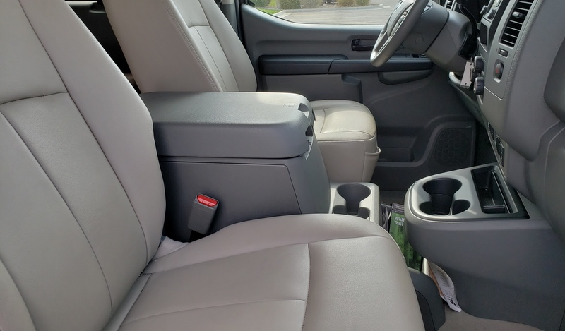 Front leather seats!. Nissan Passenger NV SL 2016