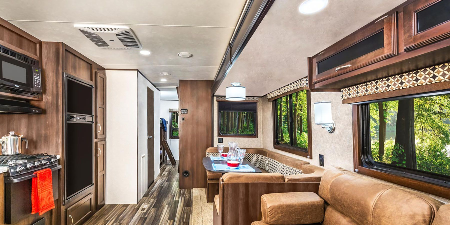 Both the dinning table and sofa are extra beds!. Jayco Jay Flight 2019