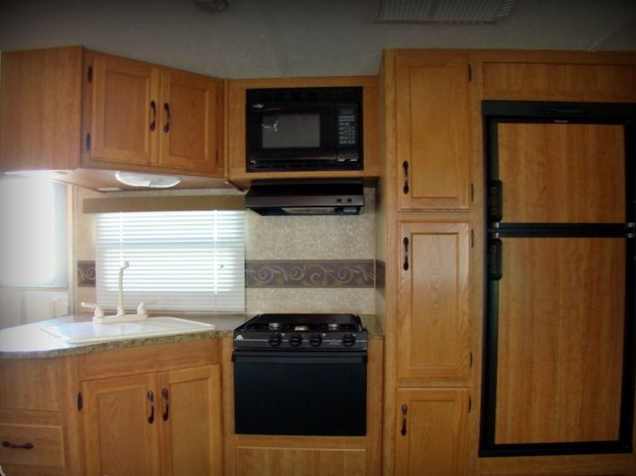 Kitchen area. Keystone Sprinter 2010