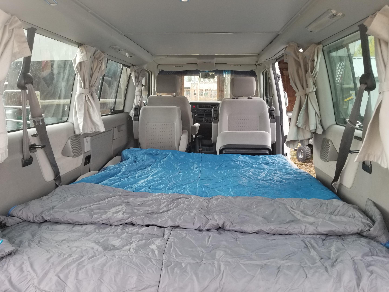 """Interior bed, 60"""" wide. Volkswagen Weekender 2001"""