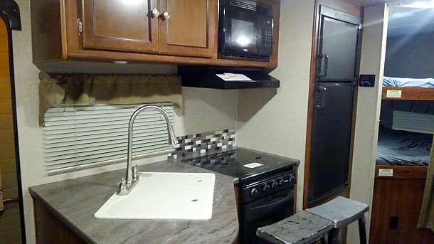 Full kitchen. Heartland Wilderness 2017
