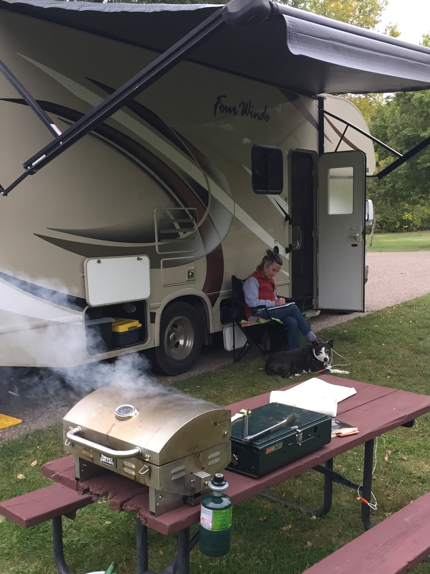 Camping and cooking out in Nebraska