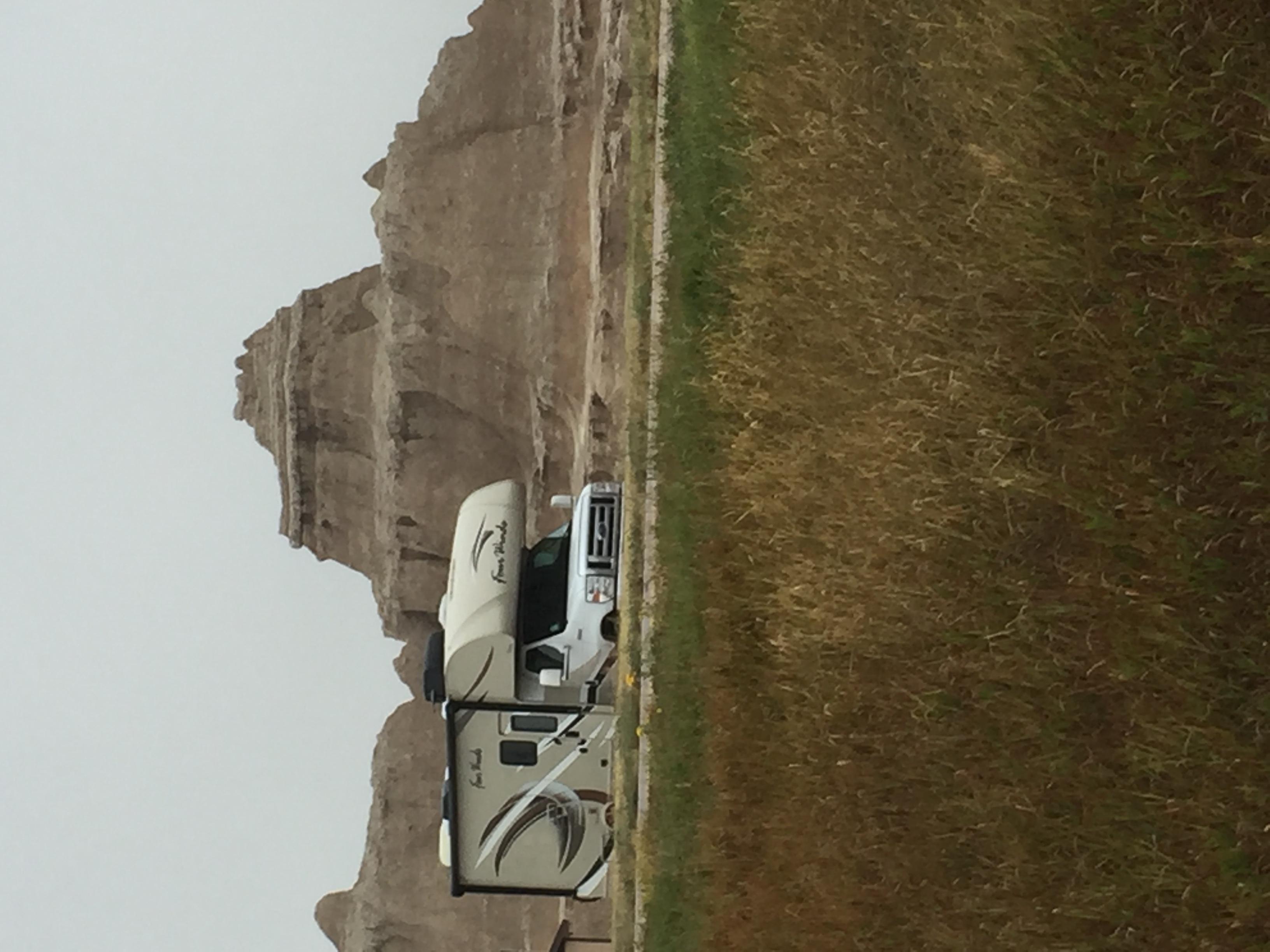 South Dakota Badlands.  Campers Dream Land