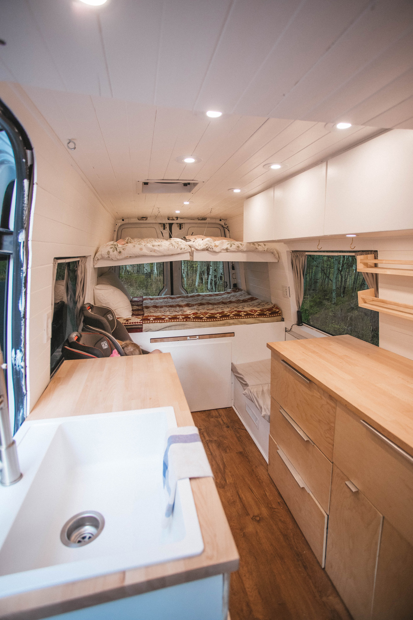 2 Childrens Bunk Beds. 48 X 30 inches each. Lower bed 72 X 50 Inches.. Mercedes-Benz Sprinter 2014