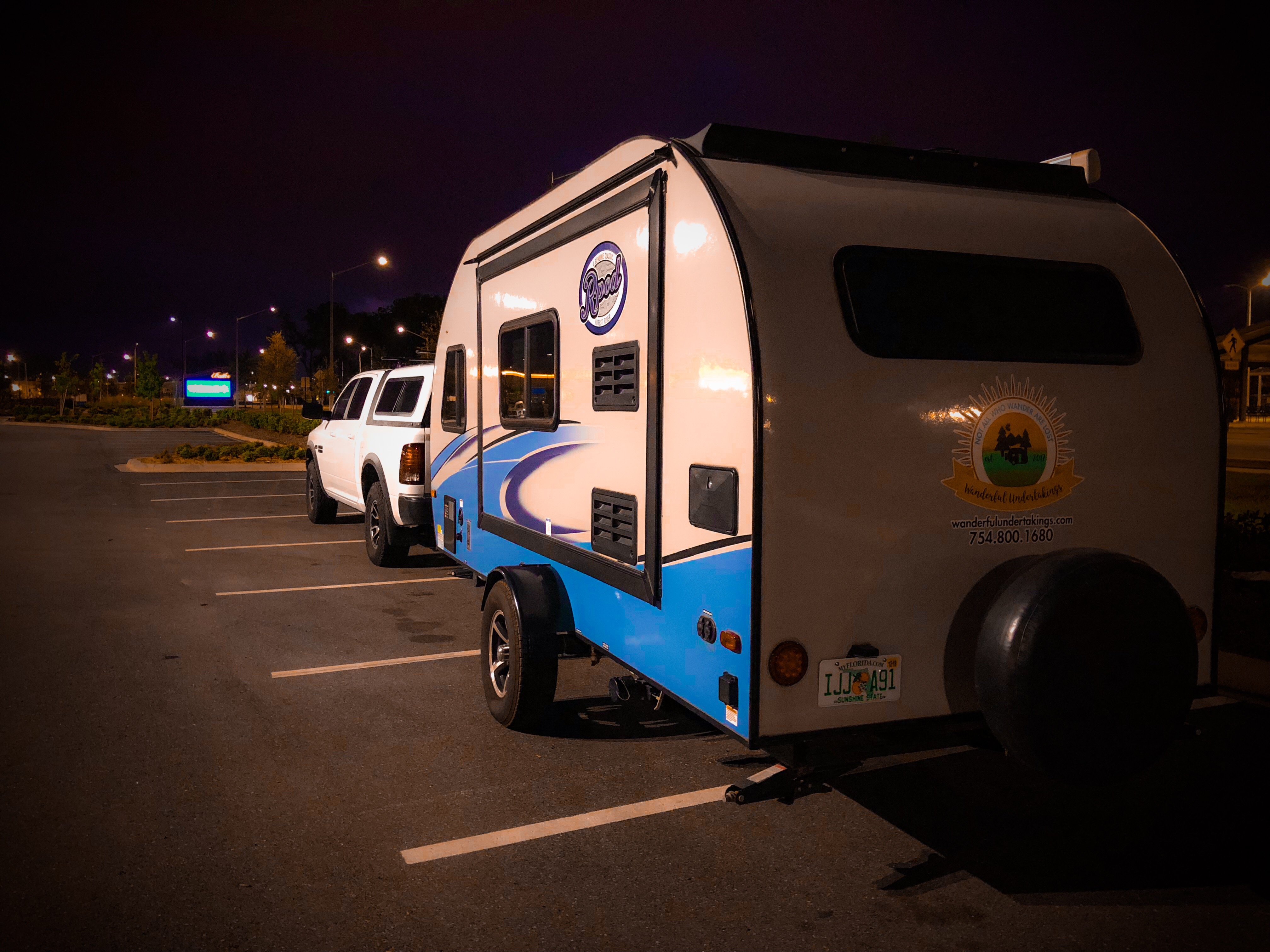 Actual travel trailer setup! (on the road)
