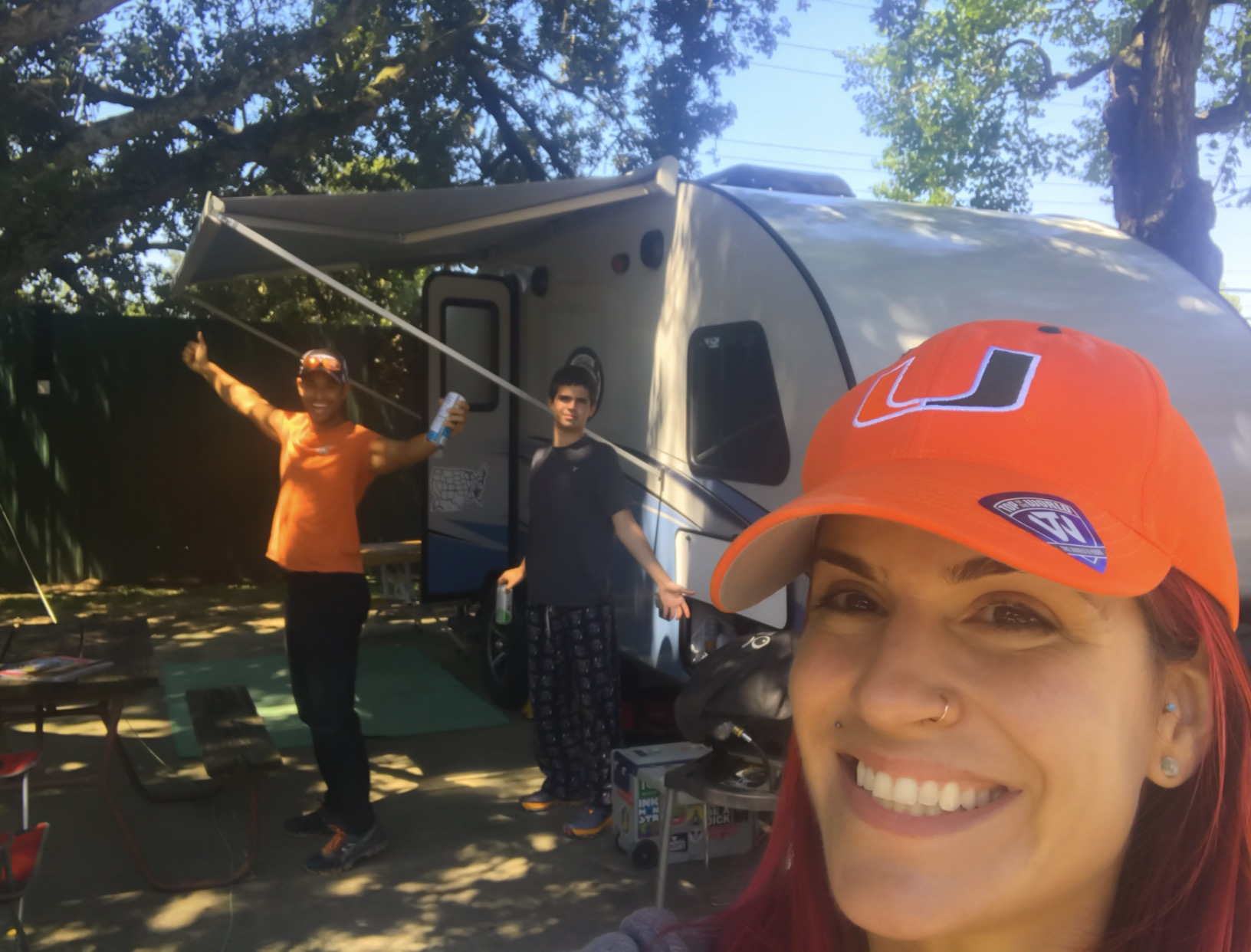 Insert YOUR family HERE! (in New Orleans) -Actual travel trailer setup!