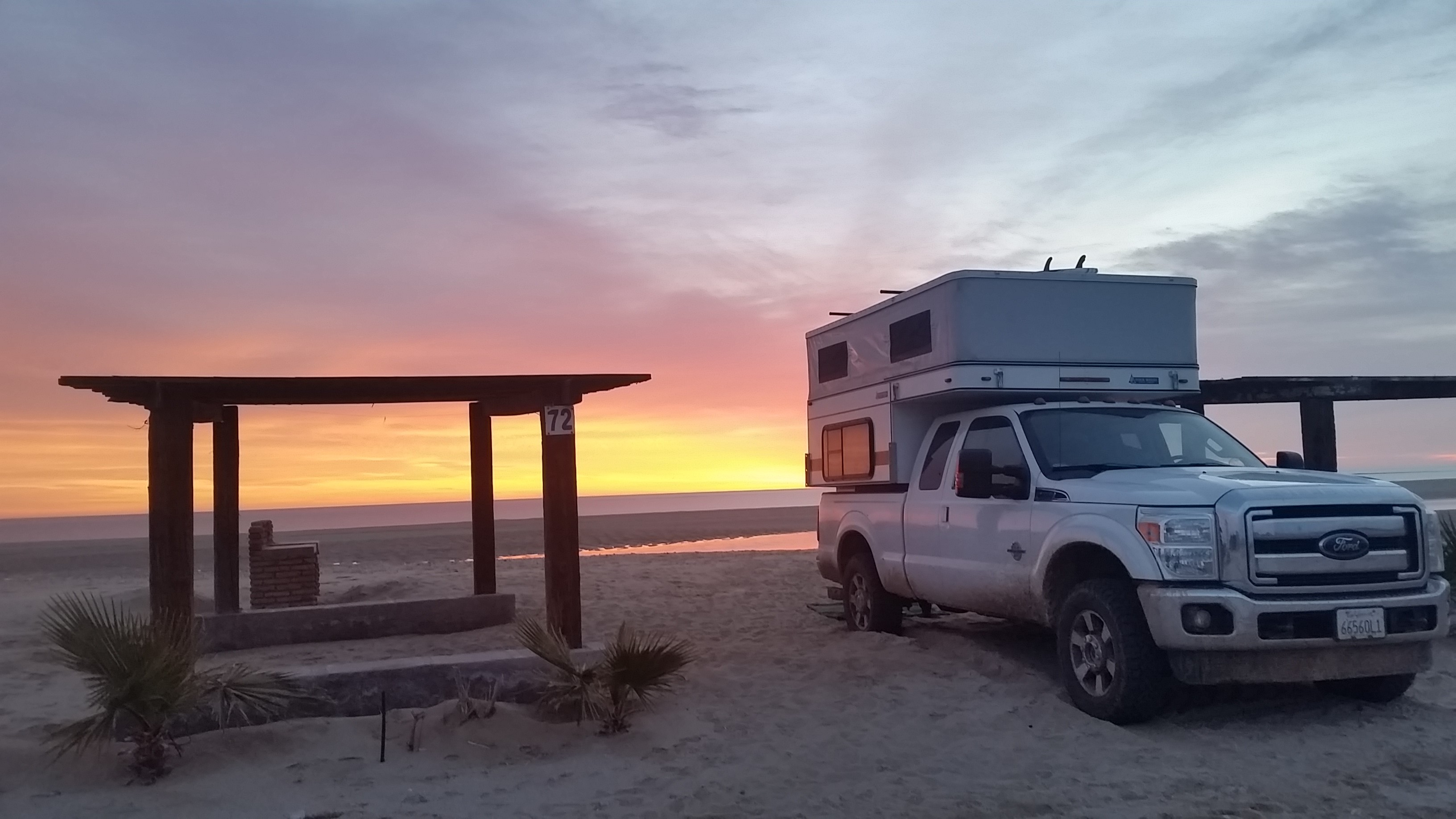Enjoying the outdoors at sunset in the camper!. Ford w. 2019 Camper Grandby 2015