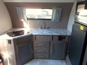 Microwave/convection oven. Fridge is propane/AC/DC powered. . Forest River R-Pod 179 2018