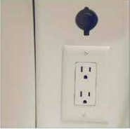 AC Outlets and DC power ports - several are located throughout the HC1.