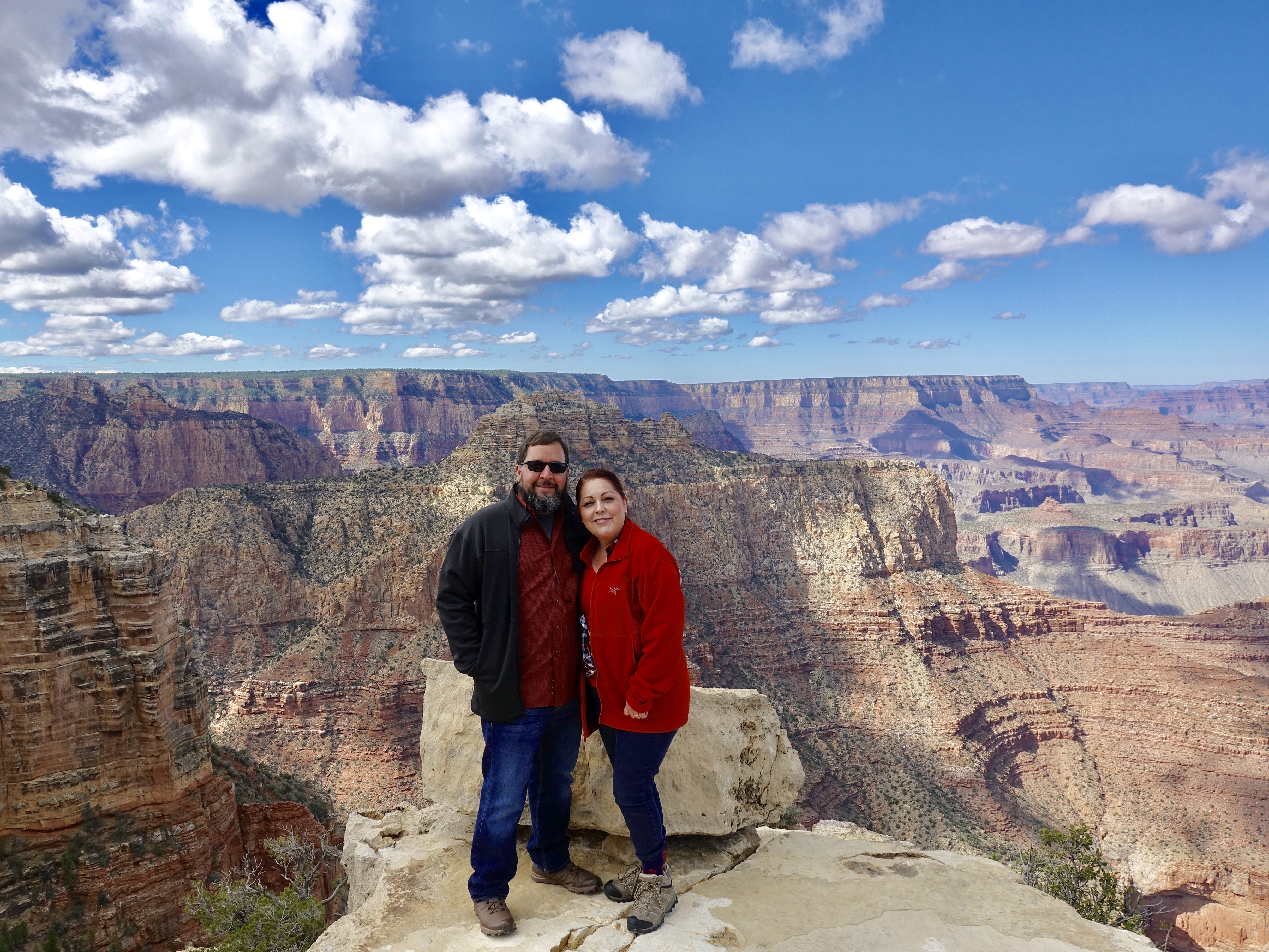 Lisa and I at the Grand Canyon this year, this was out first trip in our RV.  . Pleasure Way Plateau XLTS 2019