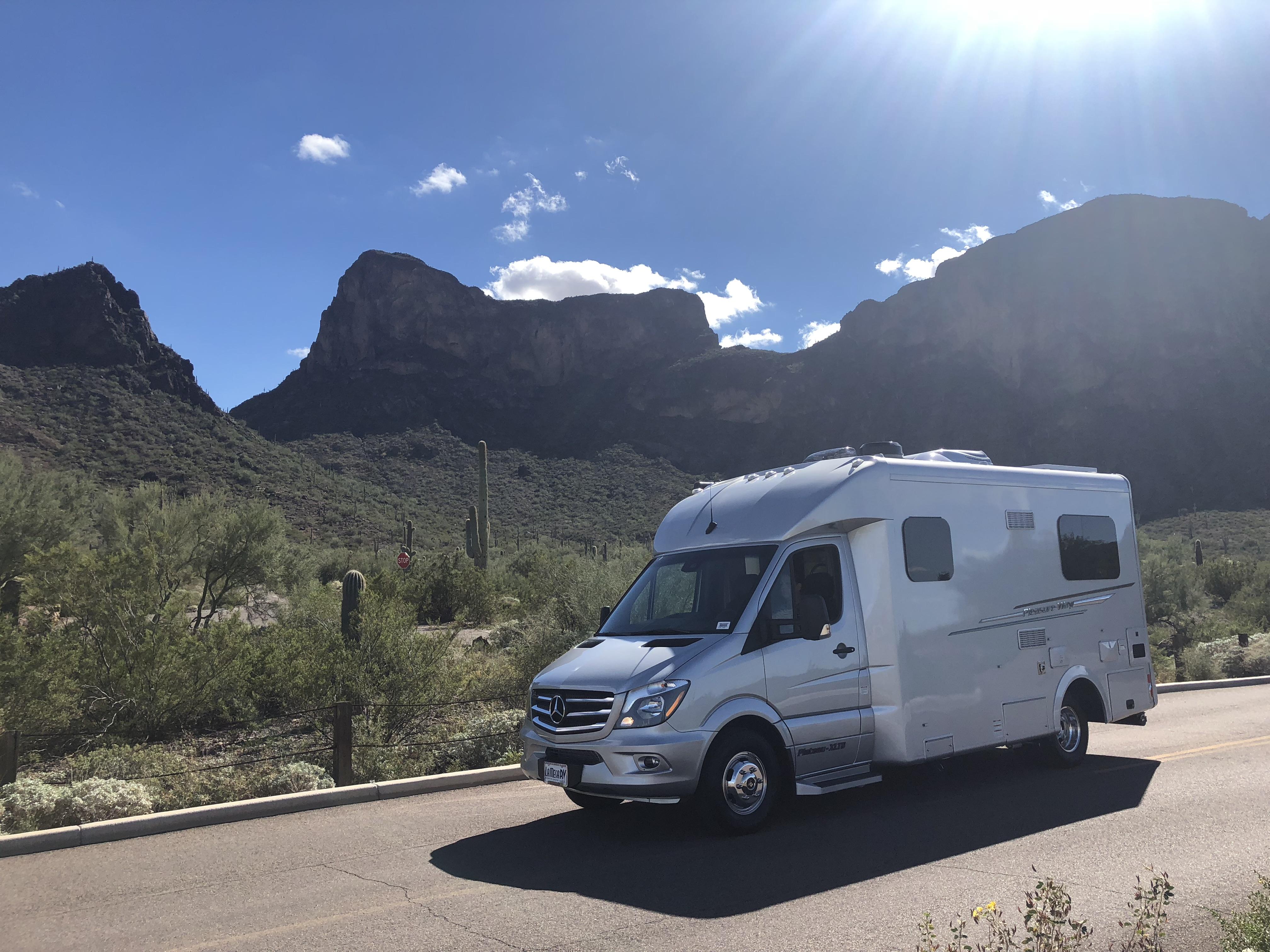 Picacho Peak State Park AZ. Pleasure Way Plateau XLTS 2019