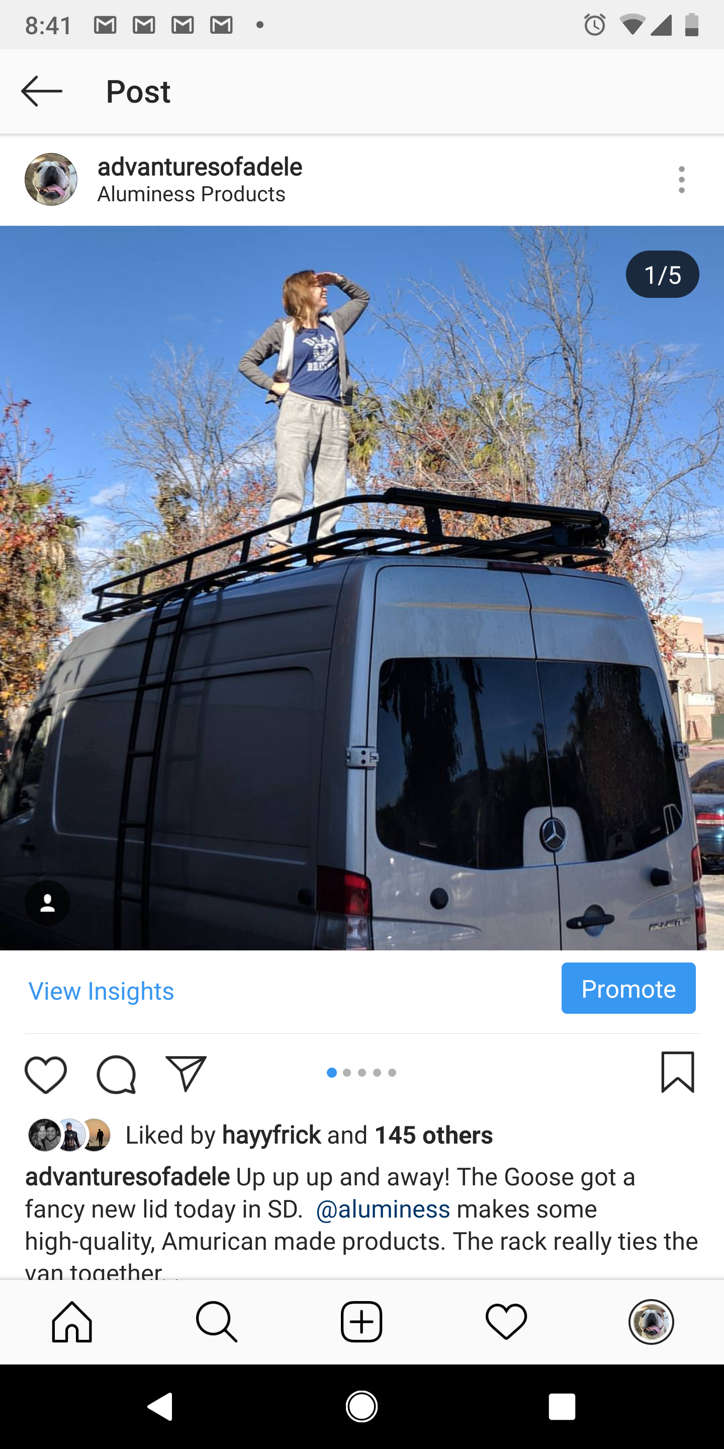 Aluminess Roof Rack with Boat Rollers for kayaks, surfboards, etc.  We have two Hobie Mirage Drive (foot peddle) kayaks we can also rent if you want to get out on the water.  . Mercedes-Benz Sprinter 2016