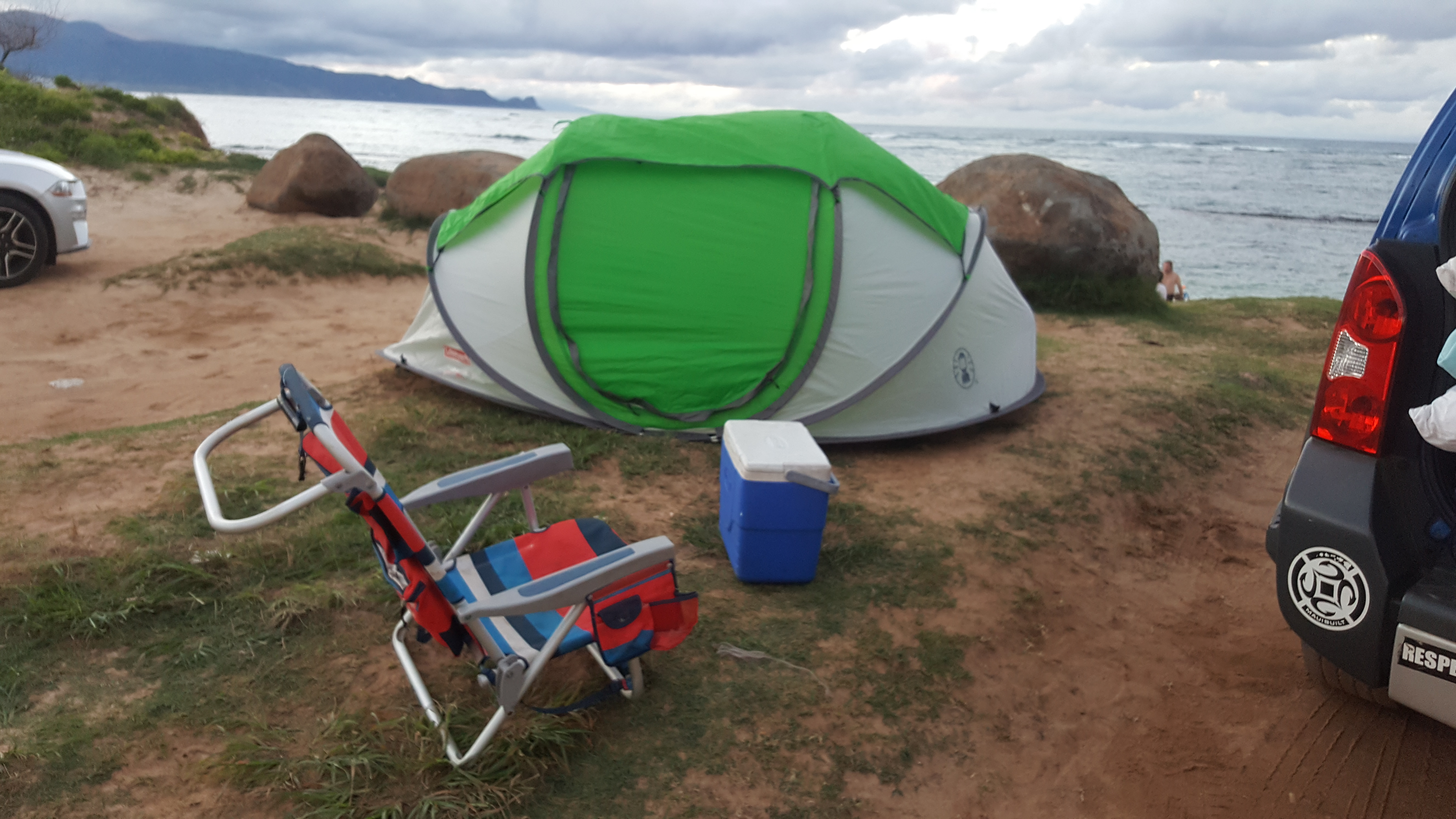 Extra tent and some of the gear.. Nissan xterra 2014