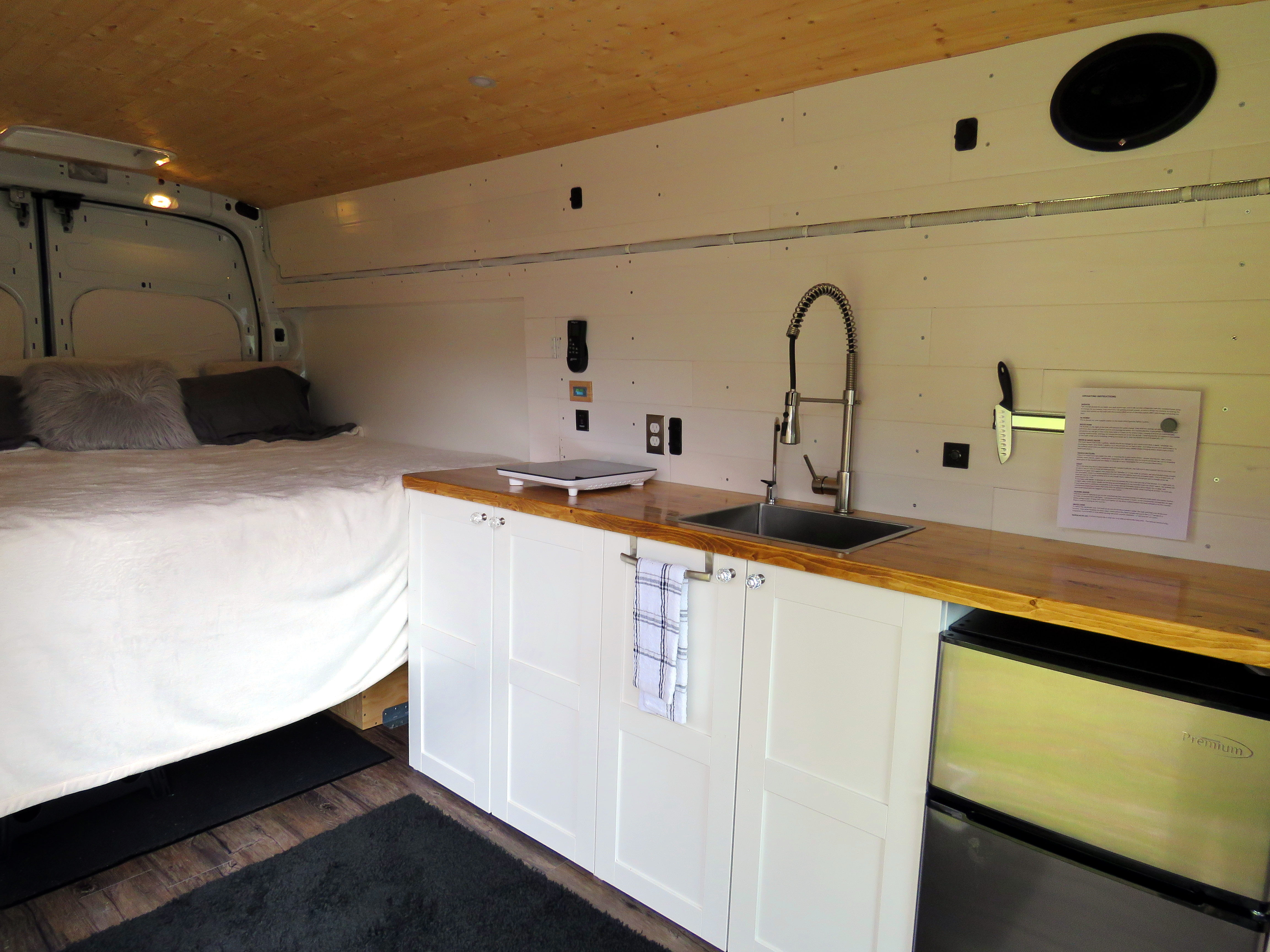Plenty of counter space to cook & prepare meals while on the go!. Ford Transit 2016