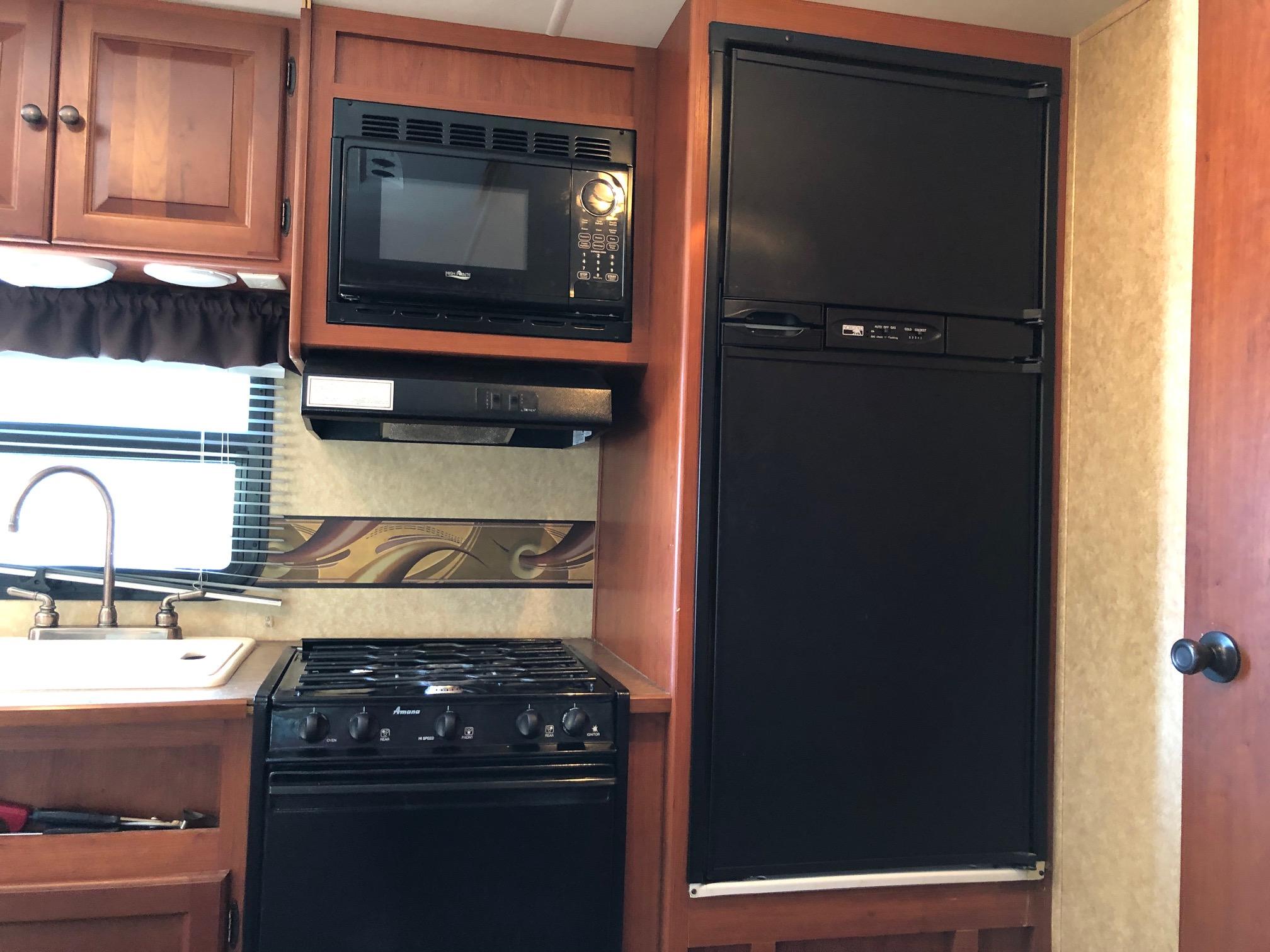 Kitchen. Aerolite Travel Trailer 2012