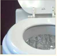 DryFlush Toilet - Revolutionary in its design and function. No water is needed; the DryFlush uses a special compacting system to store waste. Clean and odorless.