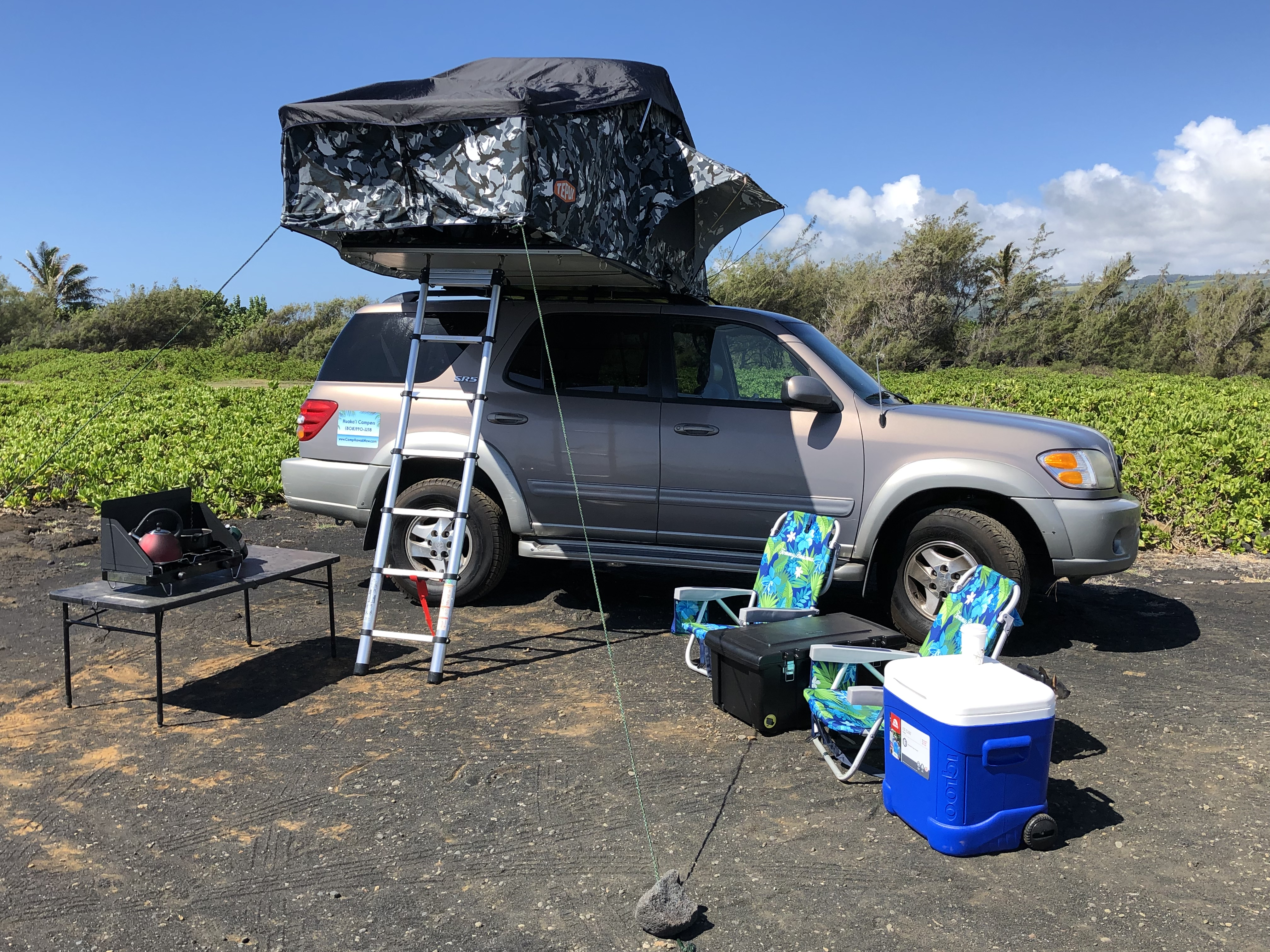 Fully equipped! Just provide your food and your sense of Aloha! You won't find a better camping adventure than the big island.. Toyota Sequoia 2002