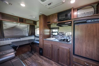 All the comforts of home including coffee maker, toaster and much more.. Jayco Jay Feather Ultra Lite 2017