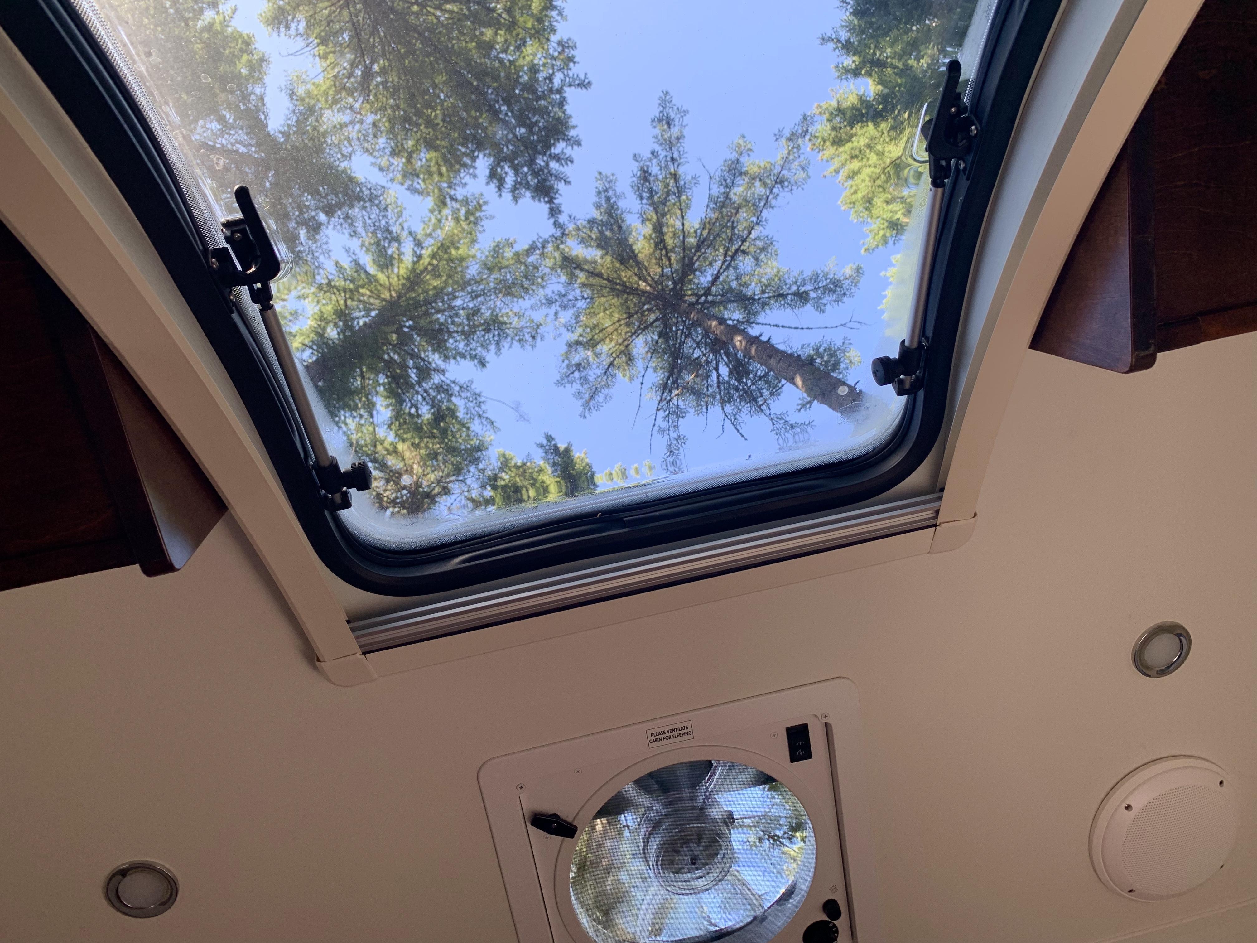 Morning view thru the skylight. Little Guy Sport 6 Wide 2017