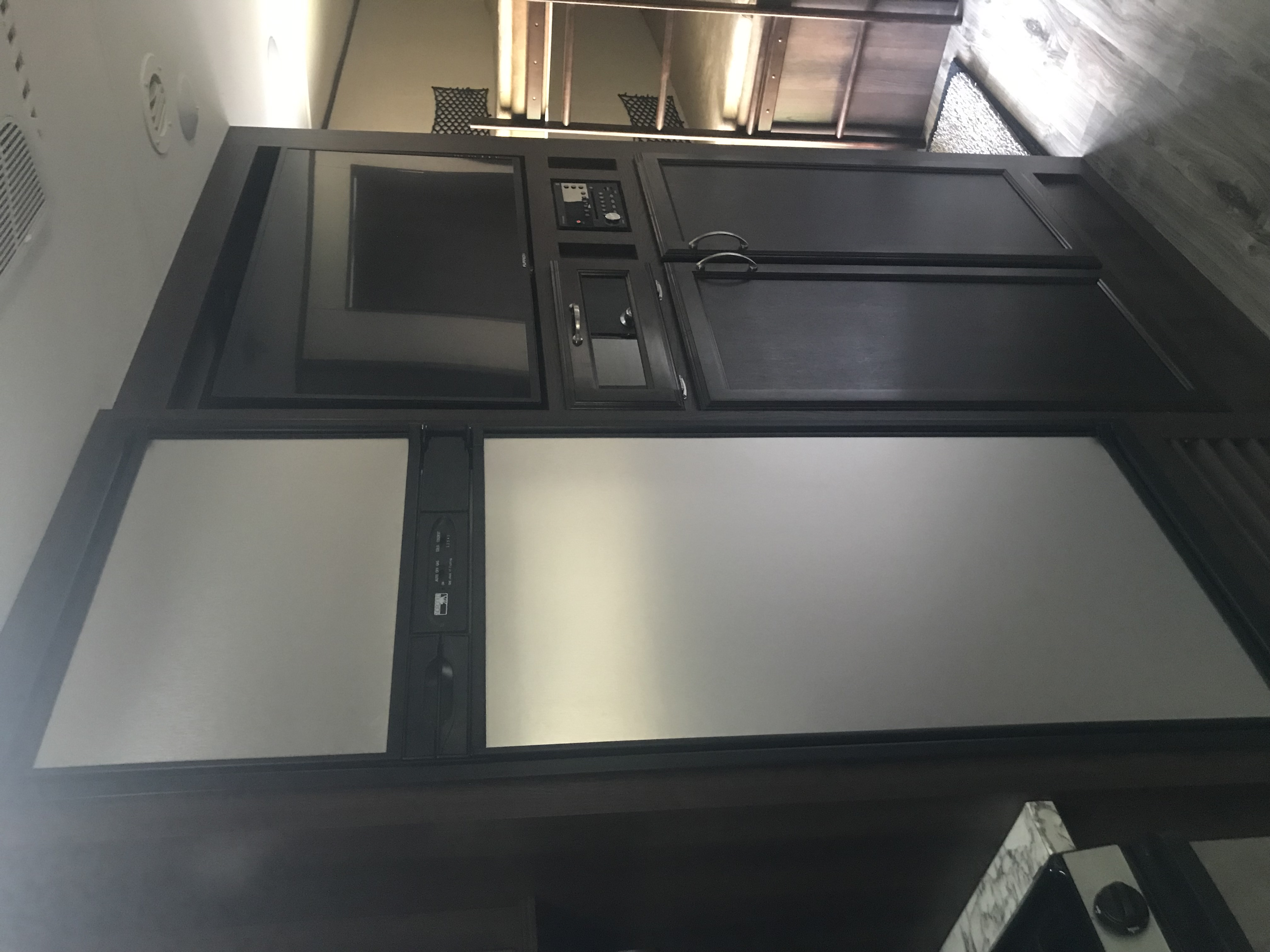 Stainless steel appliances and large tv make this a camper's dream.. Jayco Jay Flight 2018
