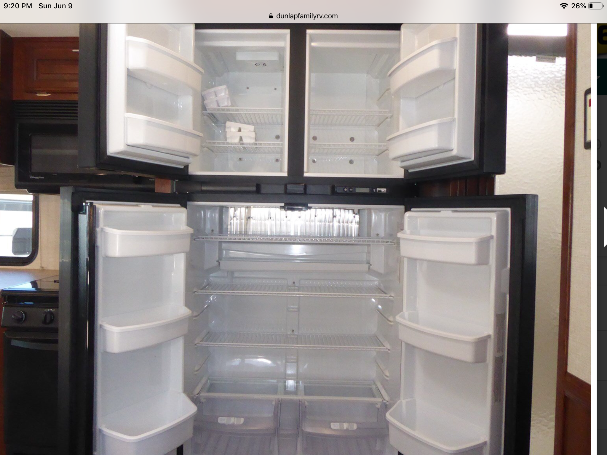 Lots of space in refrigerator and freezer.. Forest River Fr3 2017