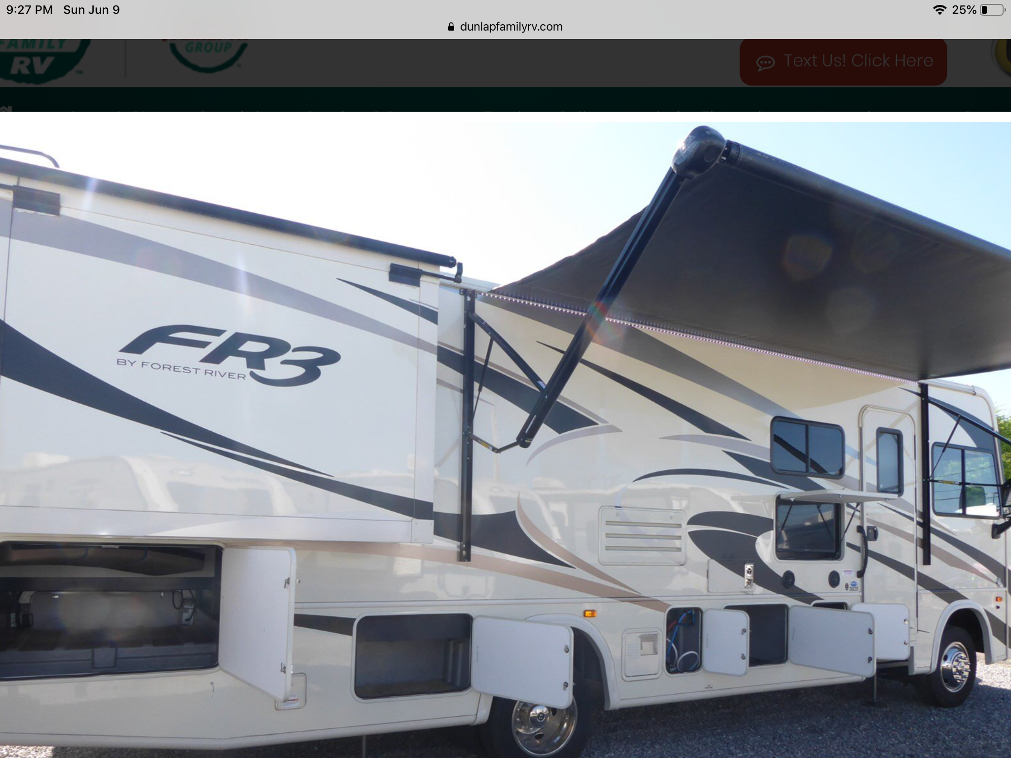 FR3 exterior with view of awning and tv.. Forest River Fr3 2017