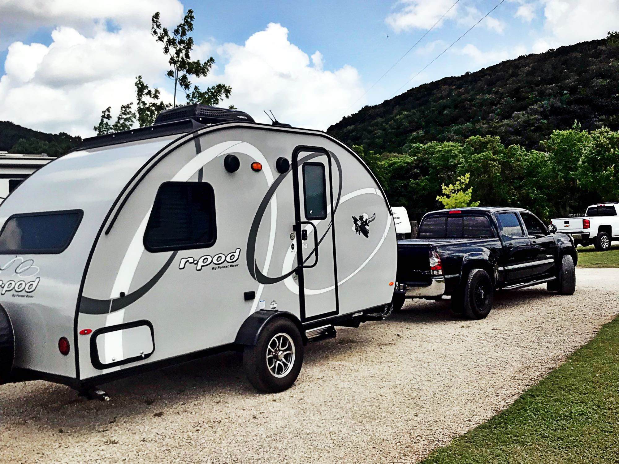 The Rpod is a head turner! It has a sleek fiberglass body, with contemporary accents.  . Forest River R-Pod 172 2019
