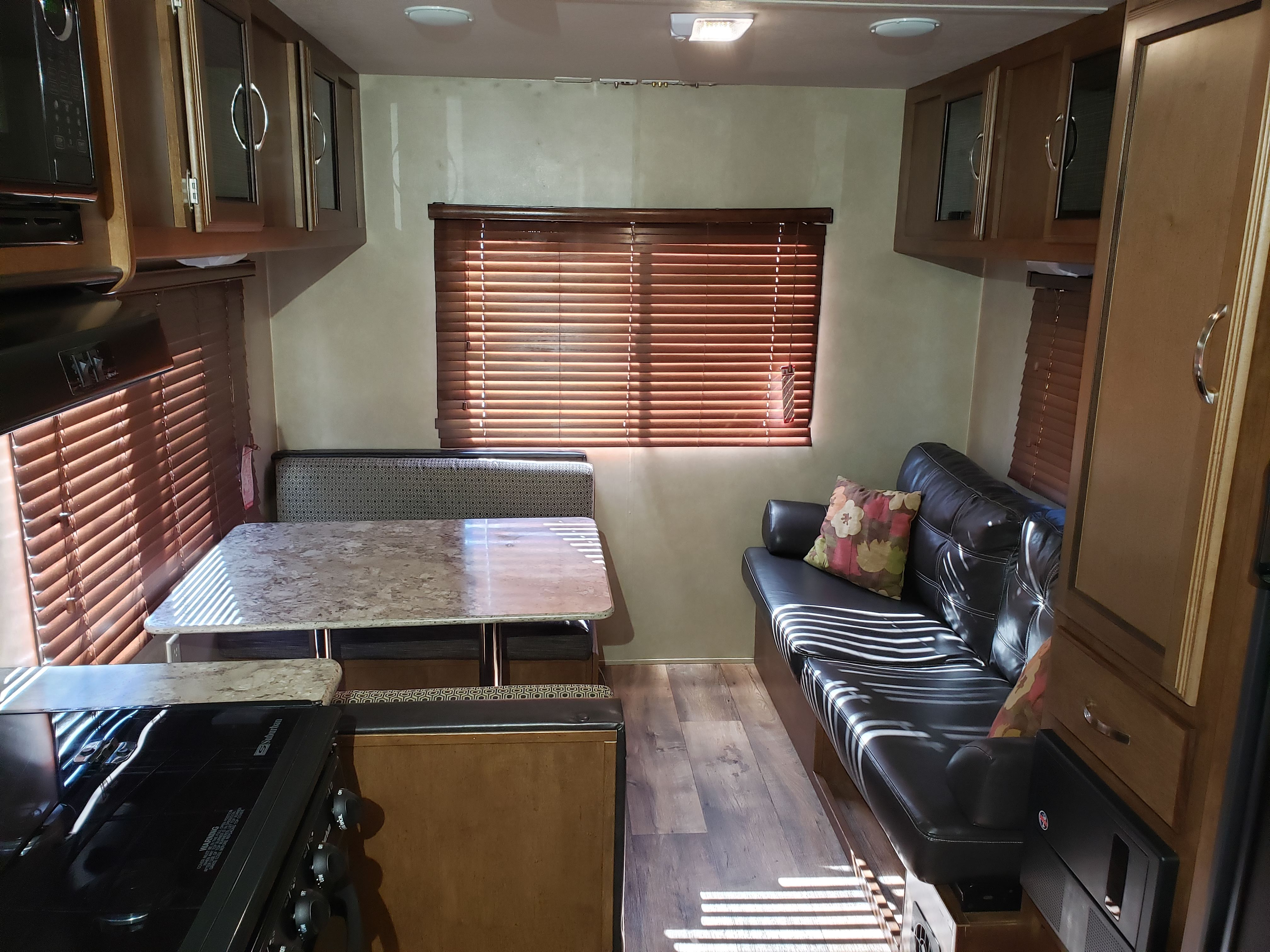 Dinette converts to bed.  Couch converts to bed.. Forest River Salem Cruise Lite 2016