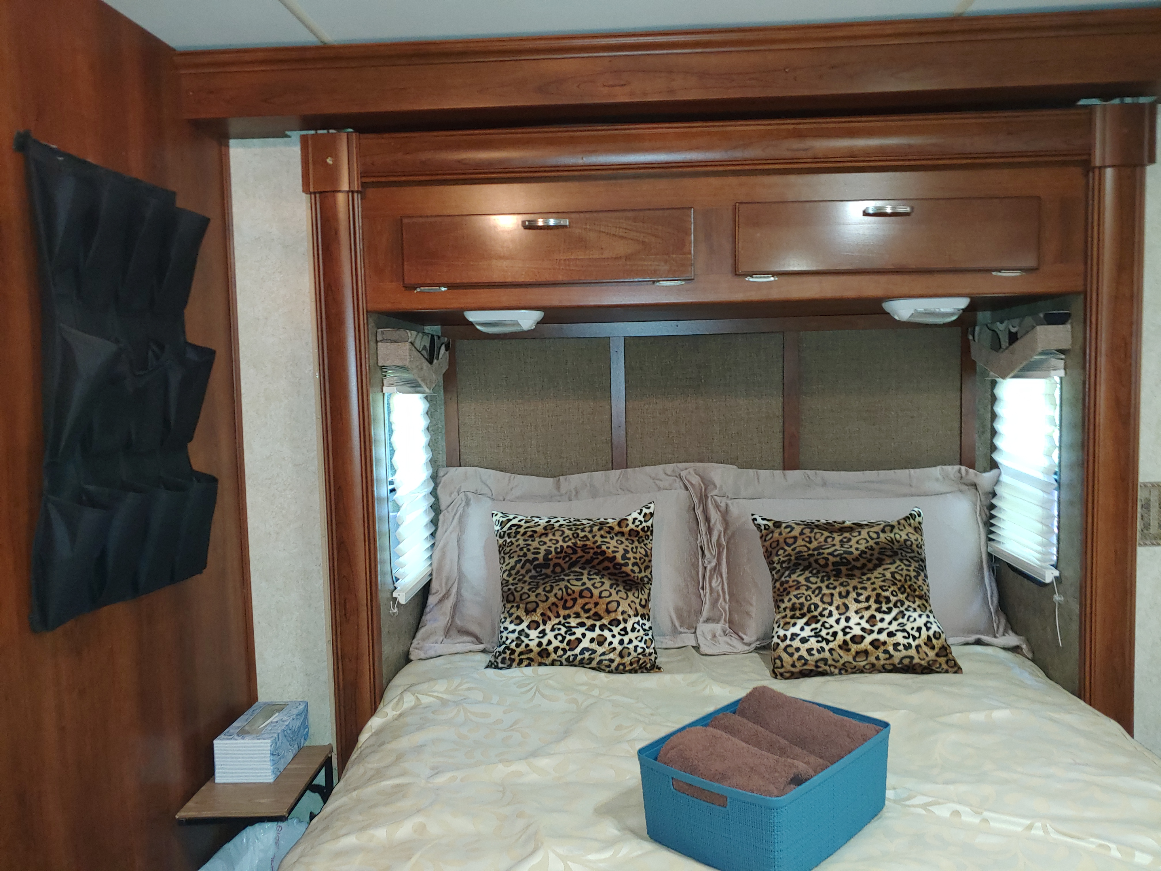 Bedroom; storage above.. Forest River Georgetown 2013
