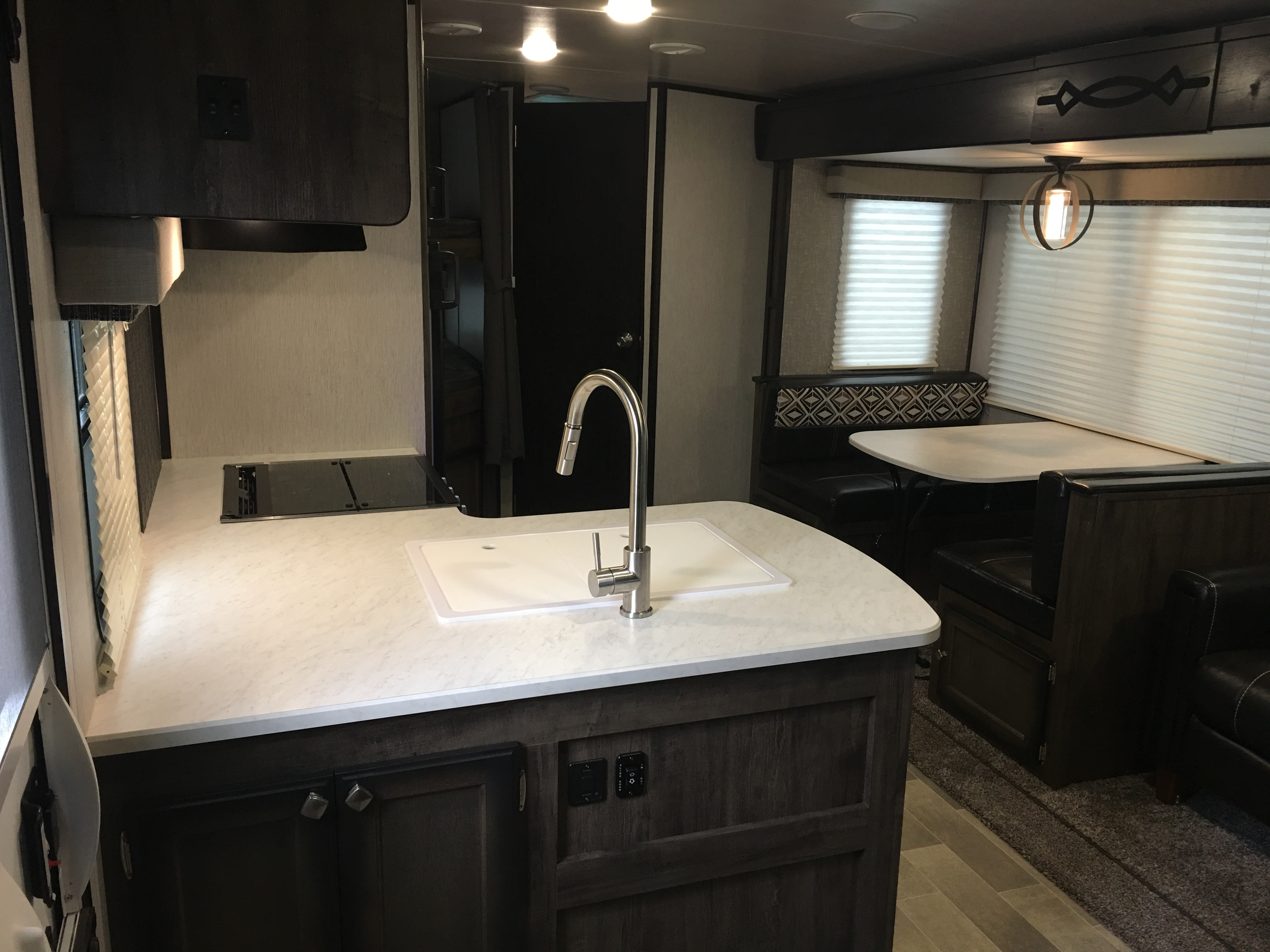 Interior from front door to back of camper. Heartland Other 2019