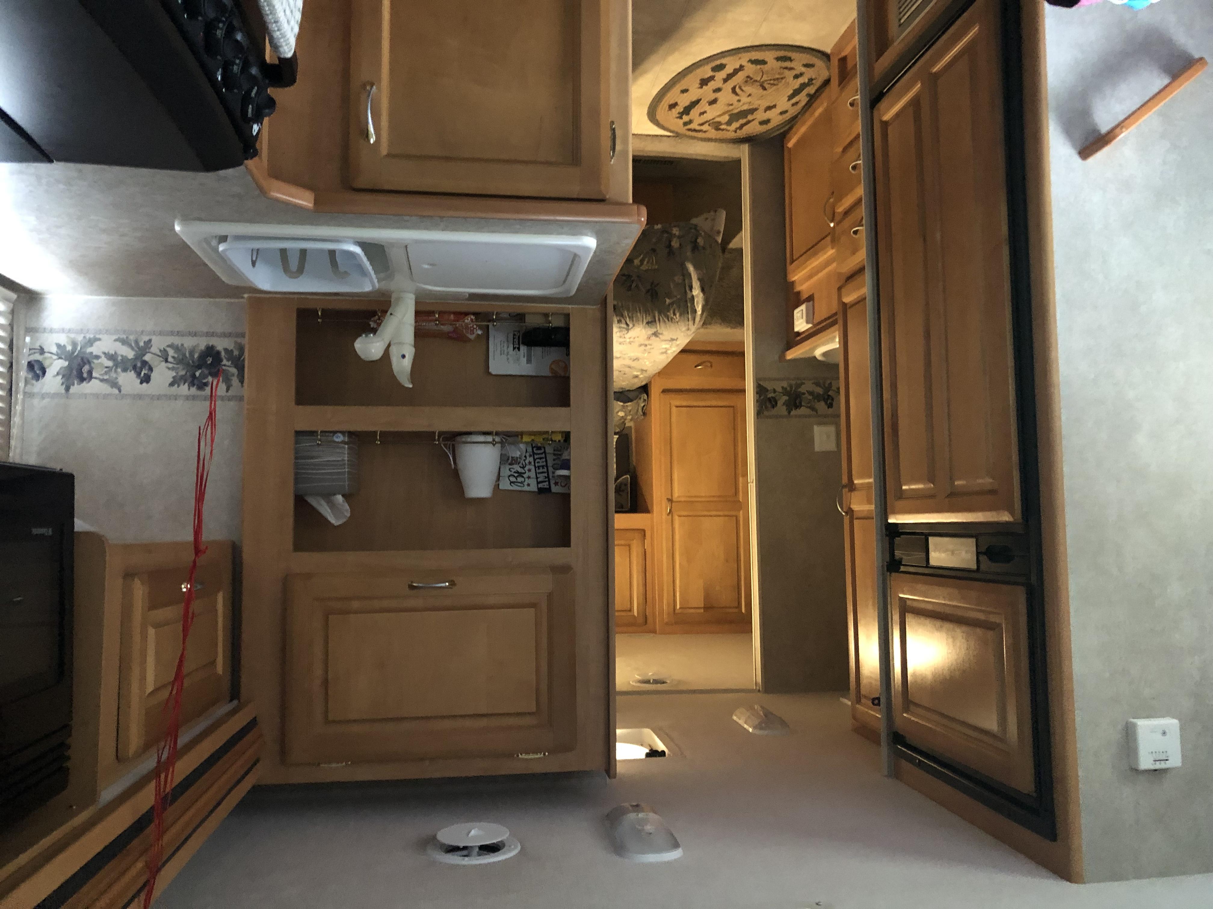 Kitchen area. Jayco Greyhawk 2005