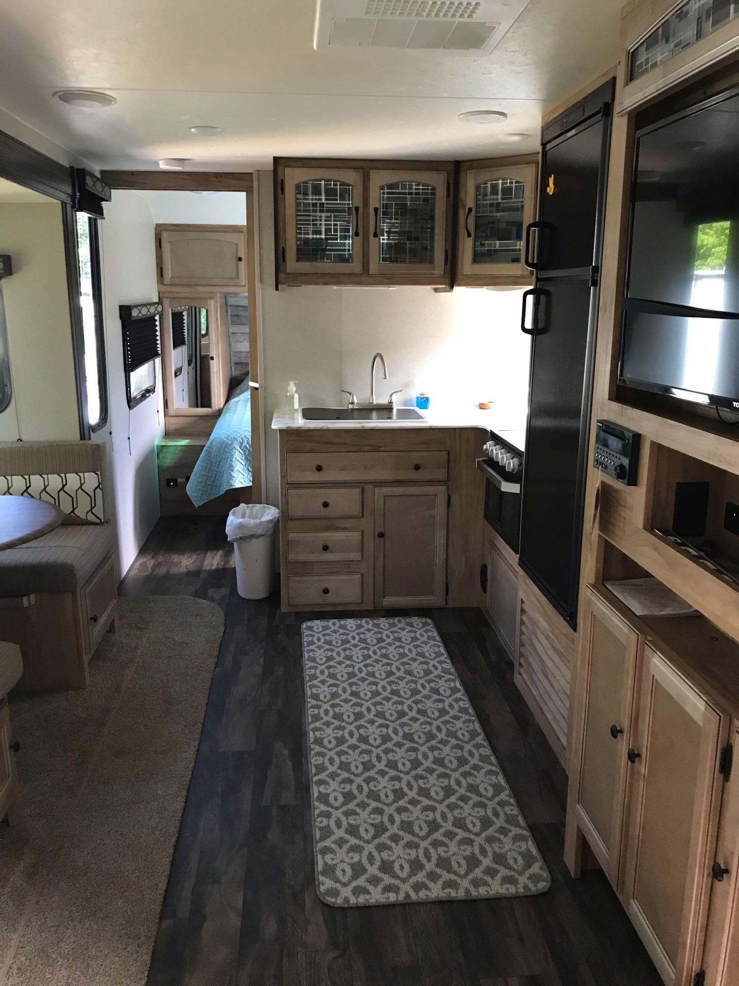 kitchen area. Coachmen Freedom Express 2019