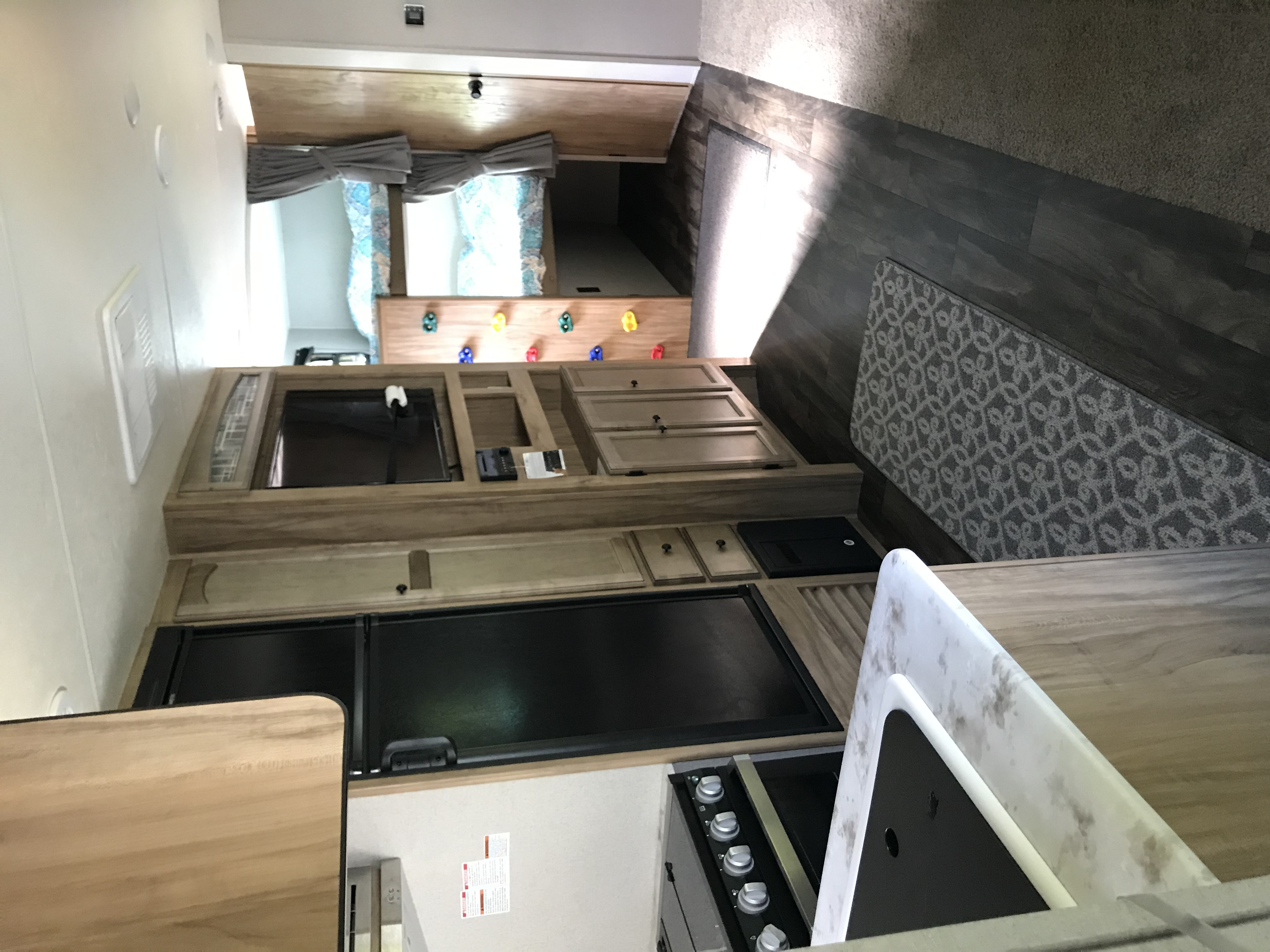Tv and living space . Coachmen Freedom Express 2019