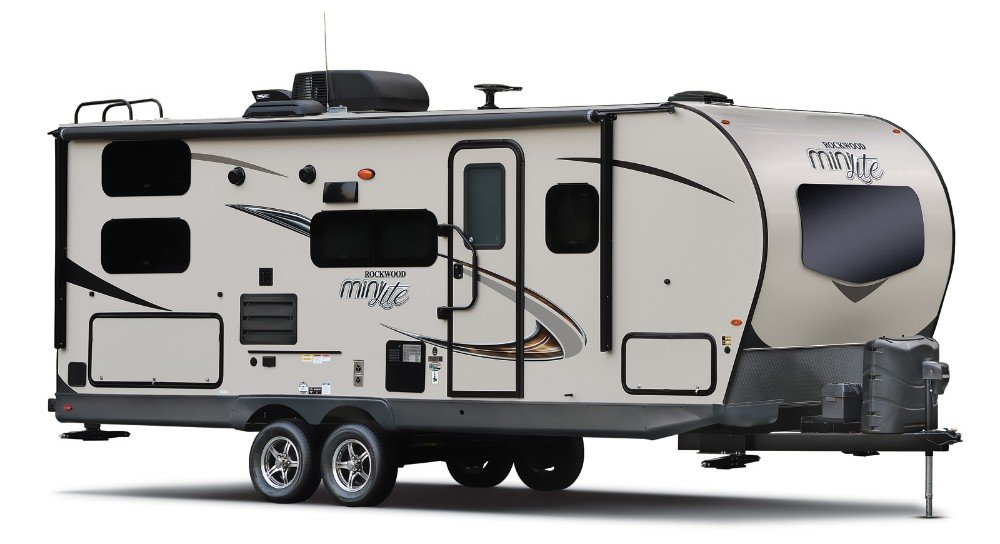 Sleek design looks good on a campsite as well as traveling down the highway.. Forest River Rockwood Mini Lite 2019