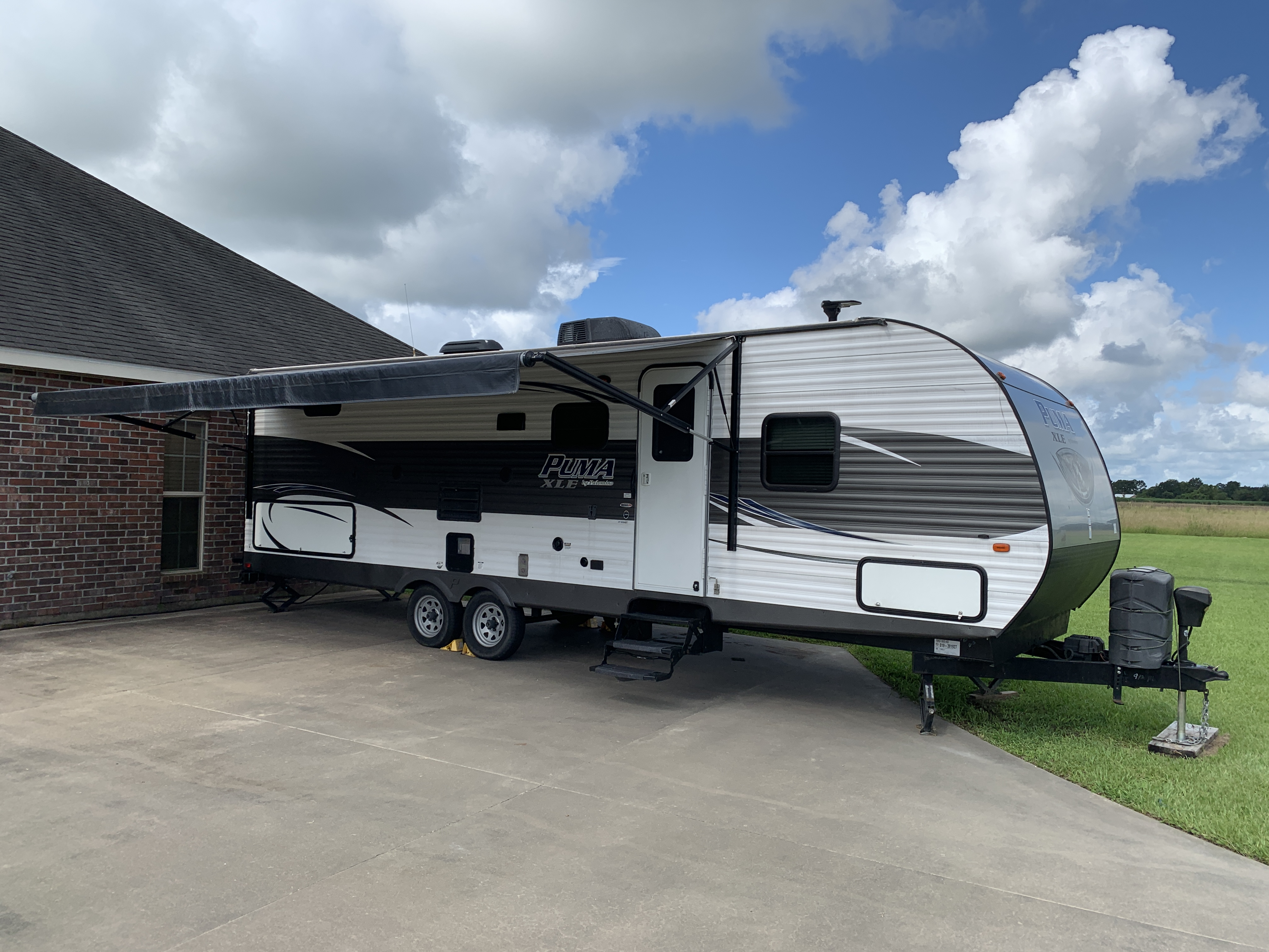 With 20' awning extended.. Palomino Puma 2016