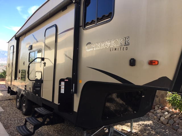 Double doors that exit outside, one in the main living area and one in the bathroom.  . Forest River Cherokee Cherokee Limited 2017