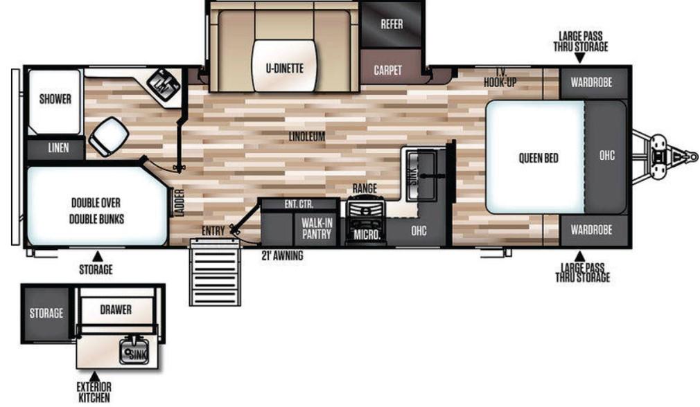 Floorplan. Forest River Wildwood Heritage Glen 2019