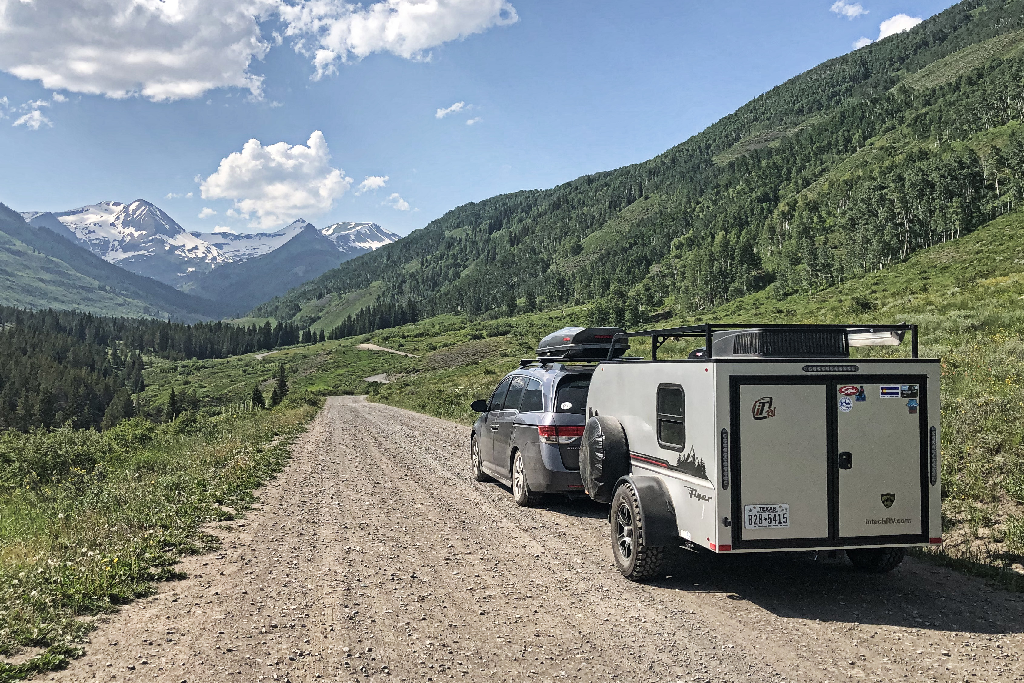Headed to campground near Crested Butte, CO. InTech RV Flyer Pursue 2018