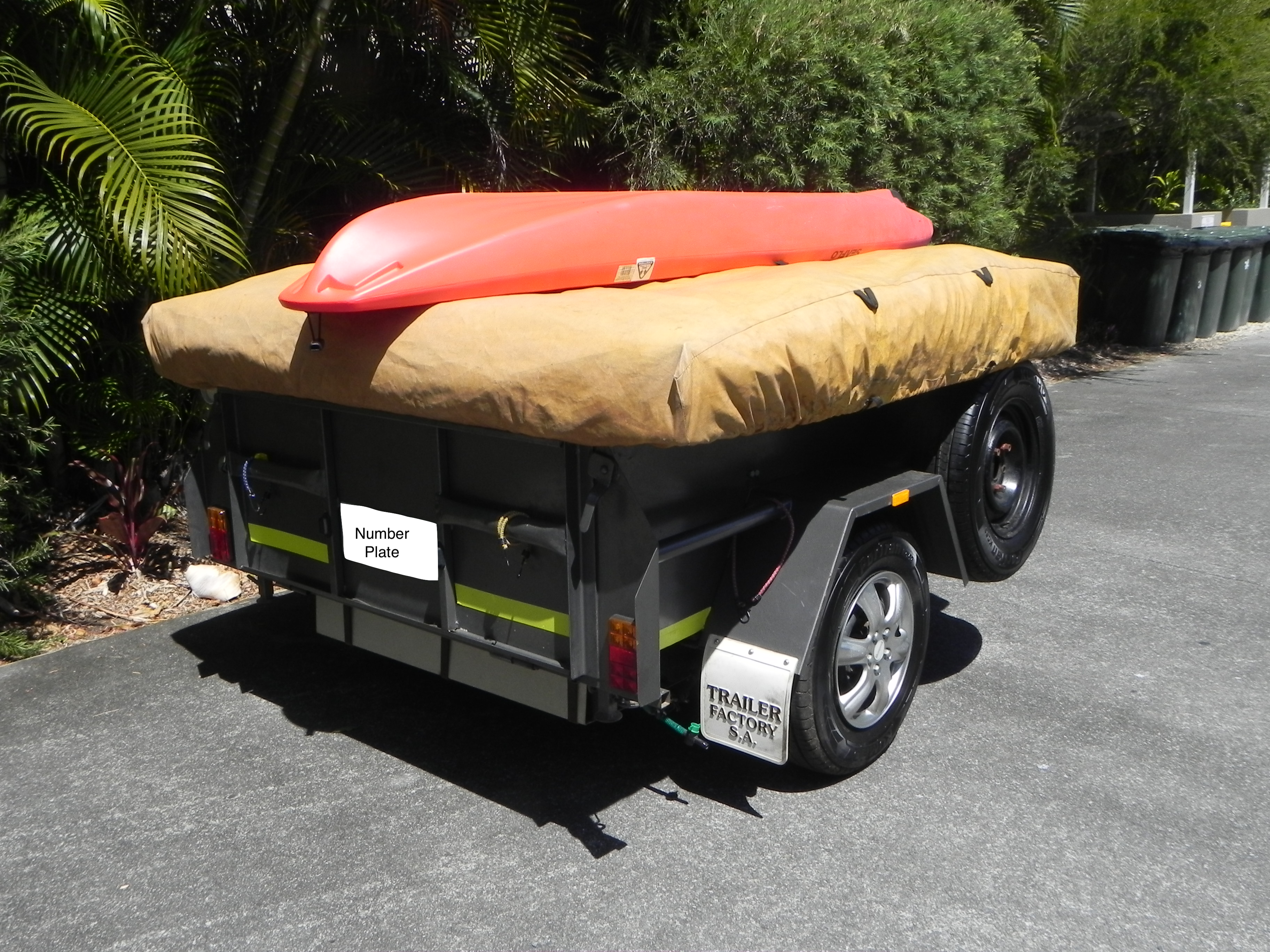 Kayaks can be strapped onto of the Camper Trailer with ease.  A kayak can be hired out seperatly by contacting the owner or adding it as an extra to your booking and is subject to availability. Custom Soft Floor Camper Trailer 2004