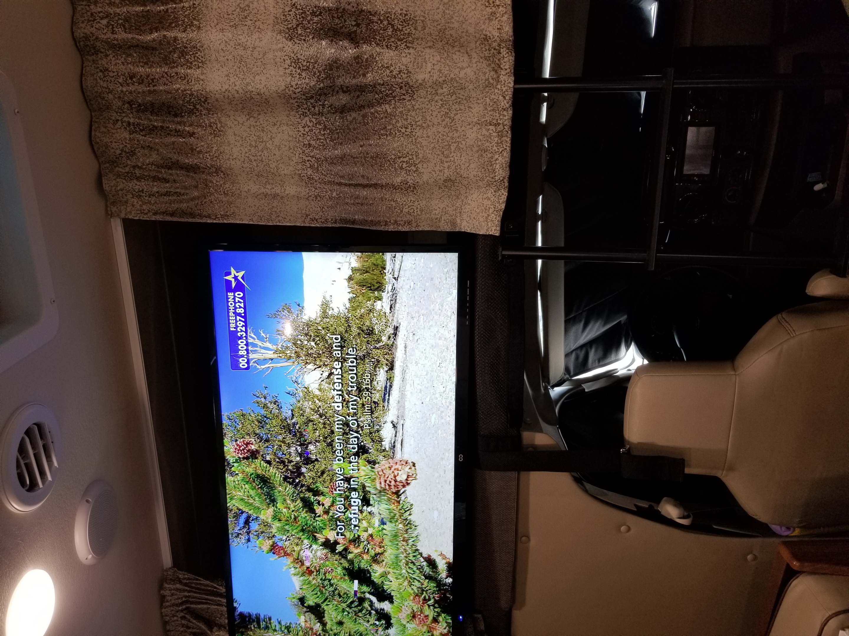 In cabin TV. Forest River Forester 2019