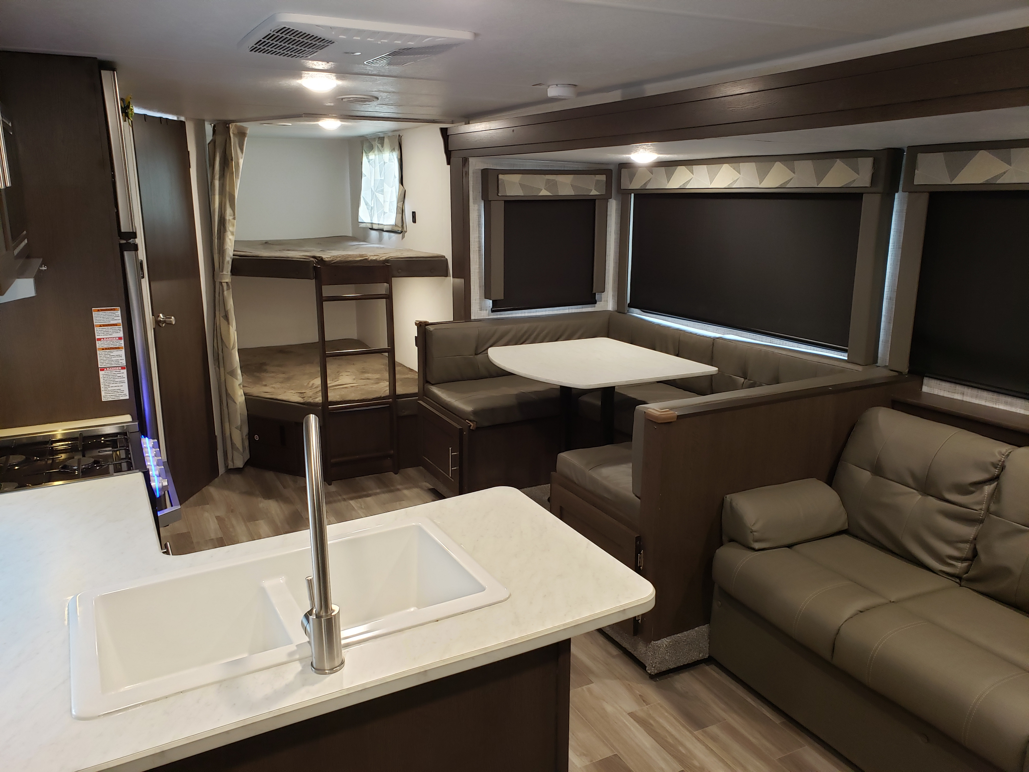 Living room view from the entry area. Forest River Salem Cruise Lite 2019
